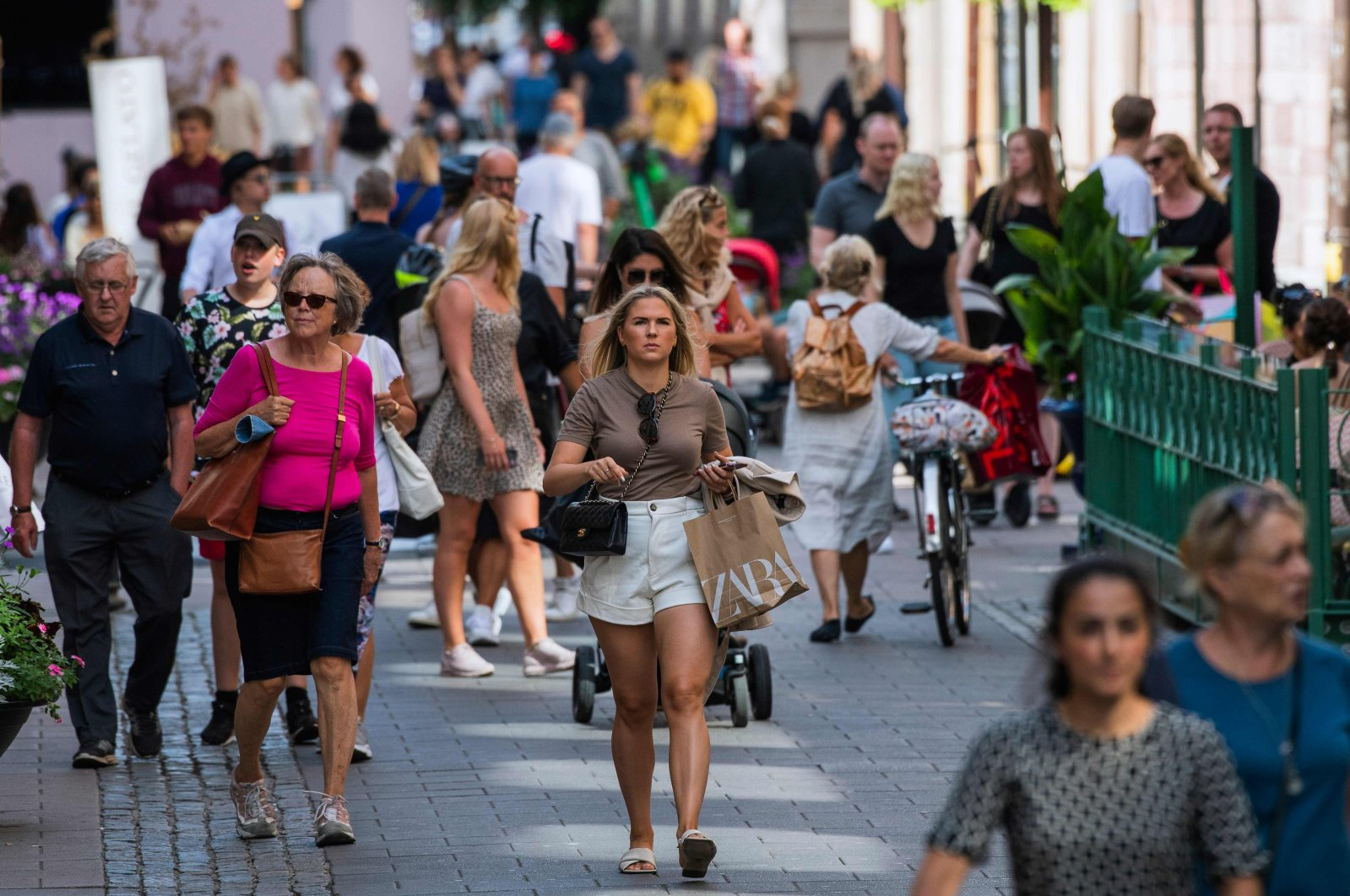 People walk in Stockholm during the coronavirus pandemic, Sweden, July 27, 2020. (AFP Photo)