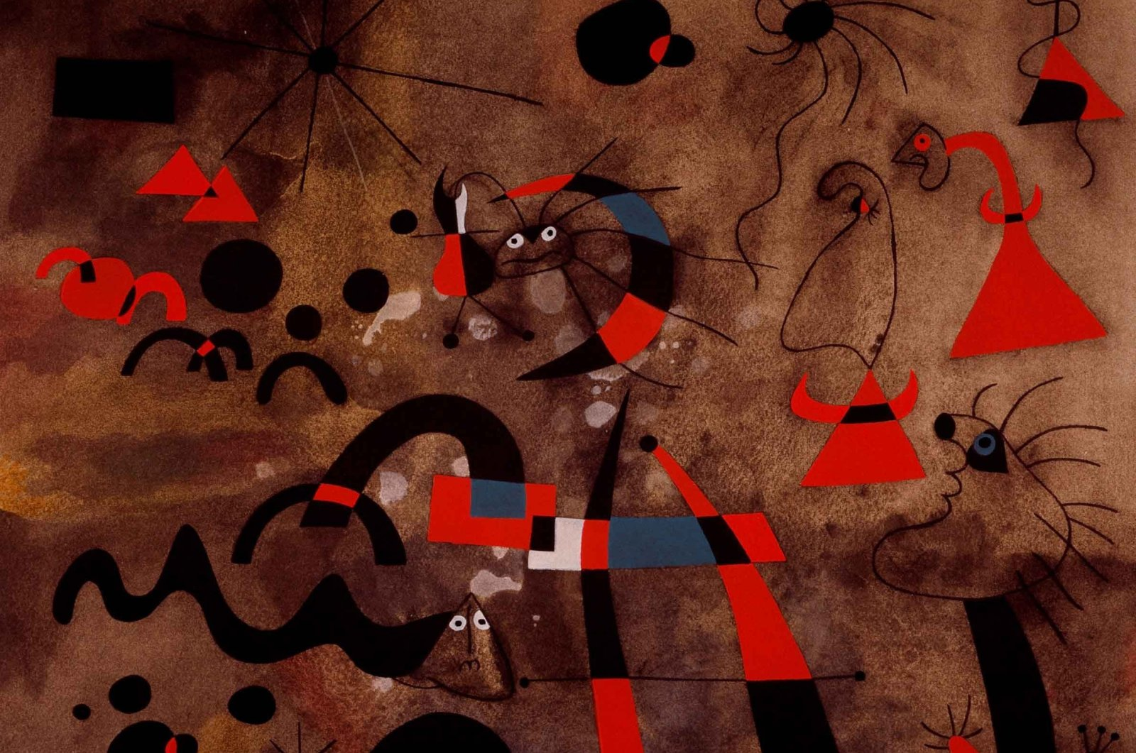 """Joan Miro, """"The Escape Ladder,"""" 1959, 35.8 by 43.3 centimeters. (Courtesy of SSM)"""