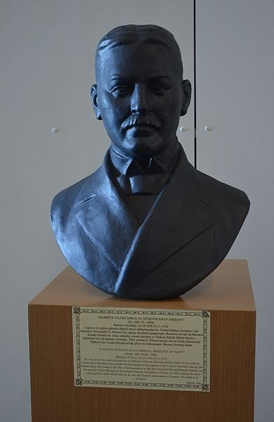 A bust of Rauf Orbay in the Istanbul Naval Museum.