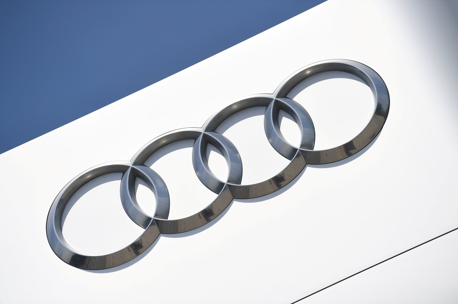 The company logo is seen at the headquarters of the German car manufacturer Audi in Ingolstadt, Germany, June 3, 2020. (Reuters Photo)