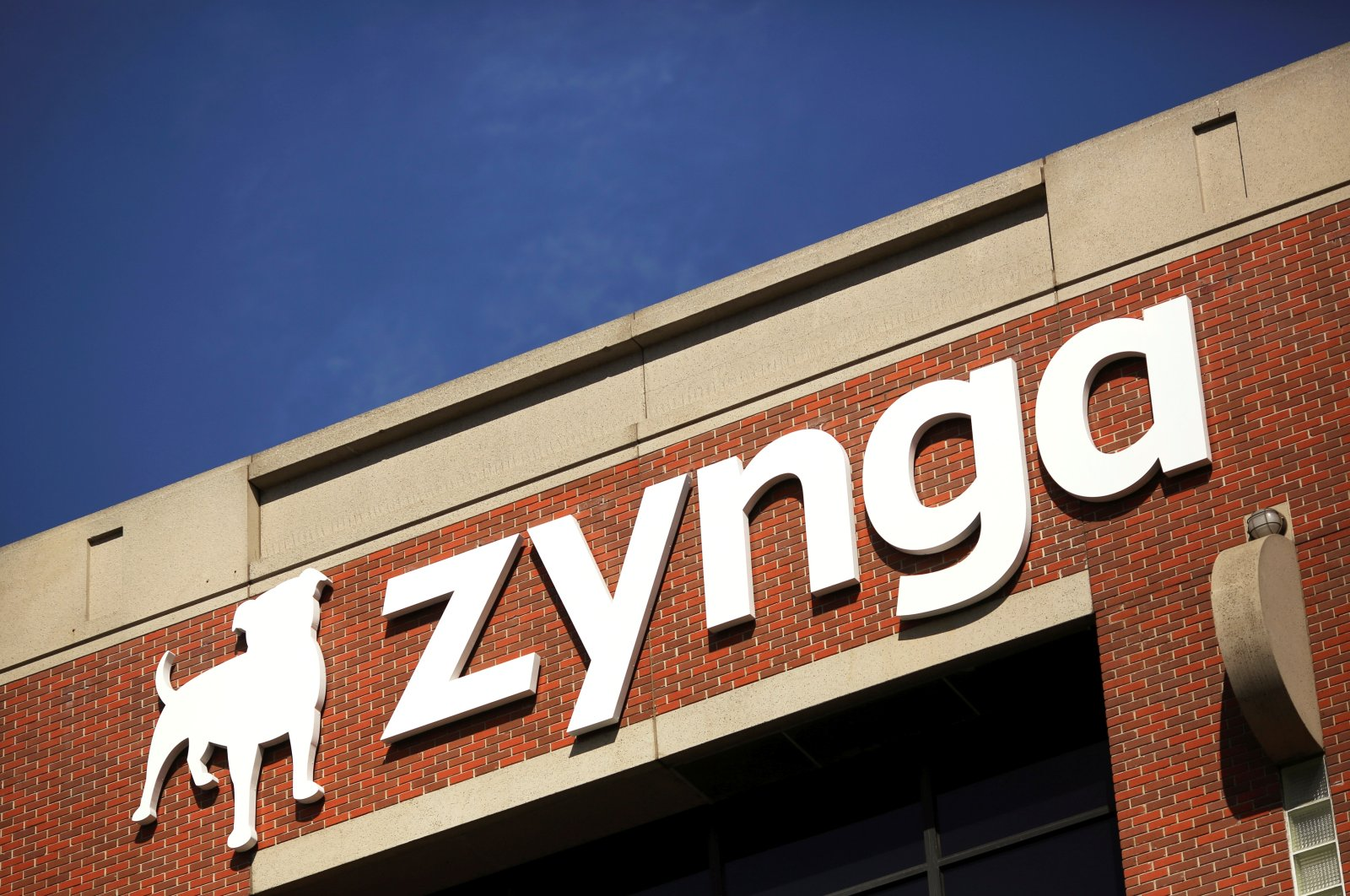 The Zynga logo is pictured at the company's headquarters in San Francisco, California, U.S., April 23, 2014. (Reuters Photo)