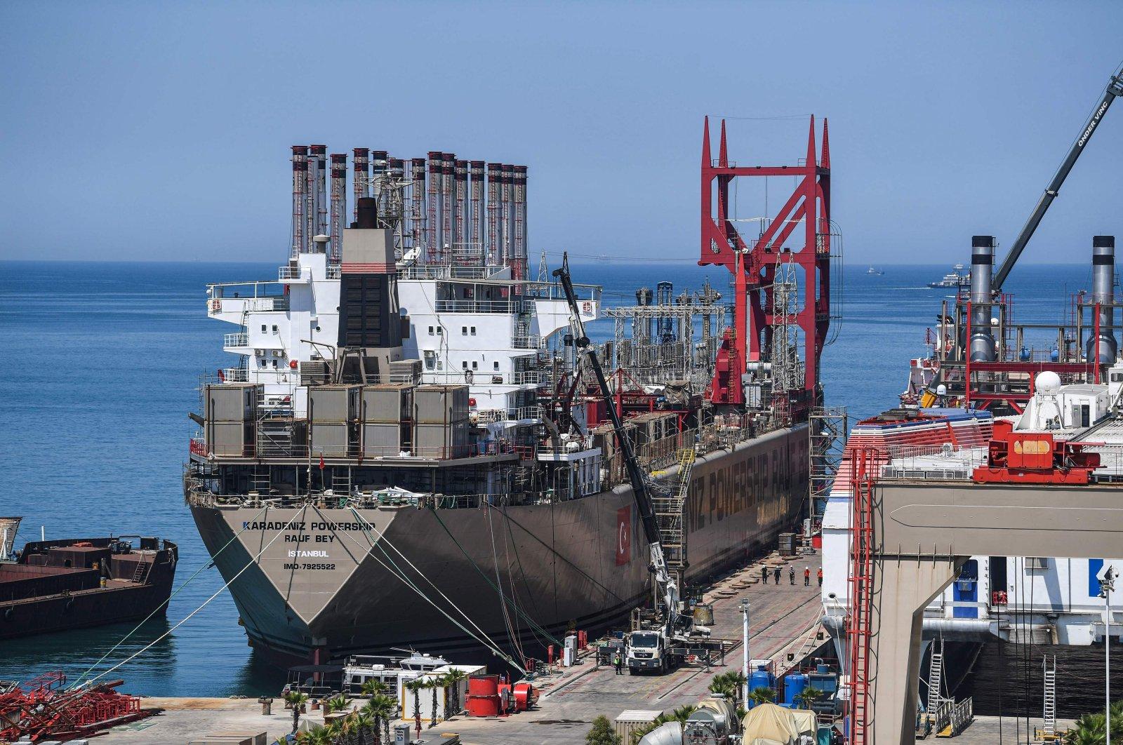 Karadeniz Holding's Raif Bey power ship docked in a shipyard of Altınova district, Yalova, June 16, 2020. (AFP Photo)