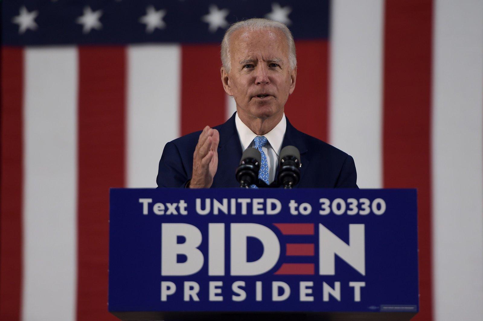 U.S. Democratic presidential candidate Joe Biden speaks in Wilmington, Delaware, U.S., June 30, 2020. (AFP Photo)