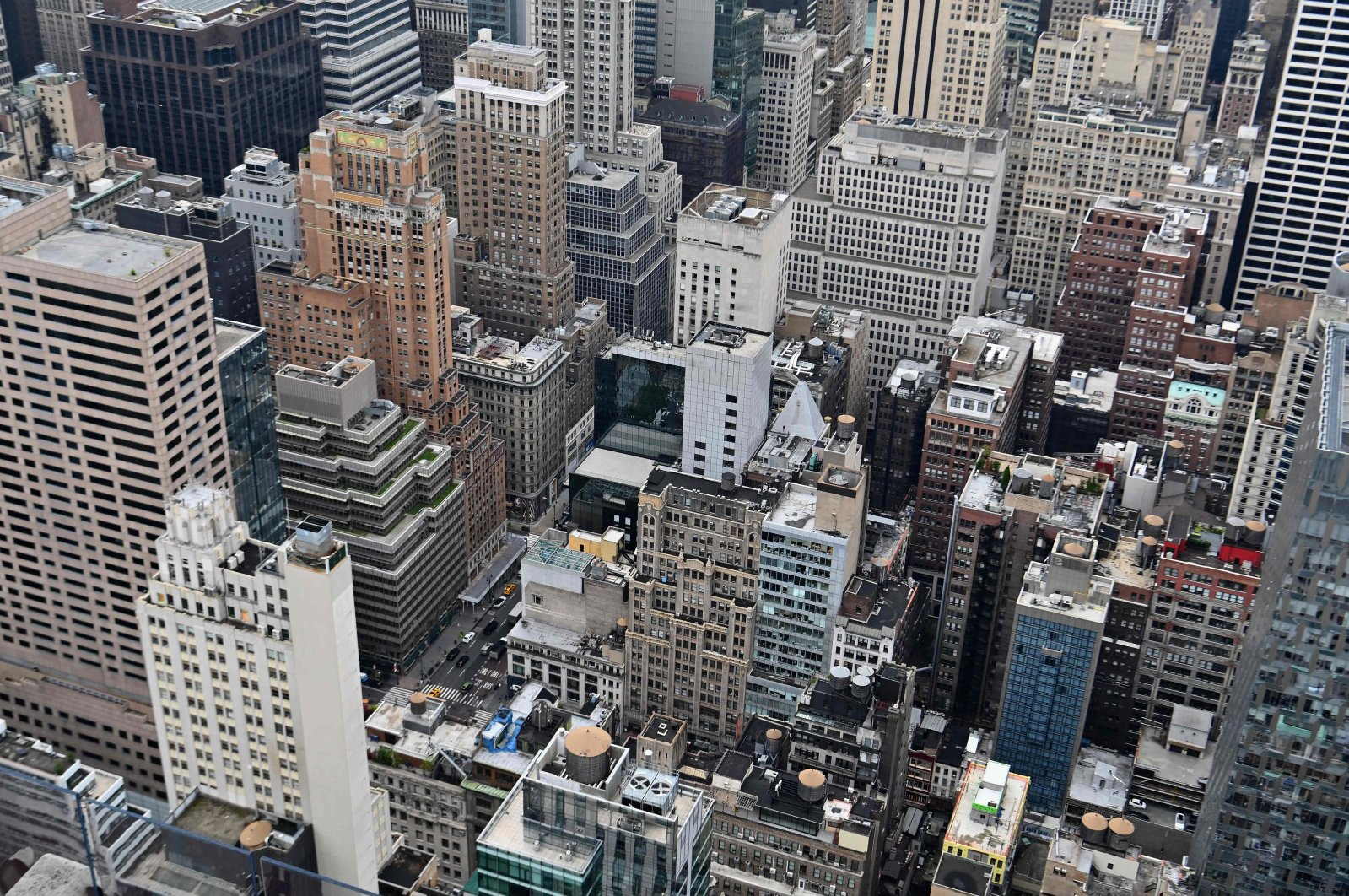 A view of Manhattan buildings during the reopening of the Top of The Rock observation deck on in New York City, August 6, 2020. (AFP Photo)