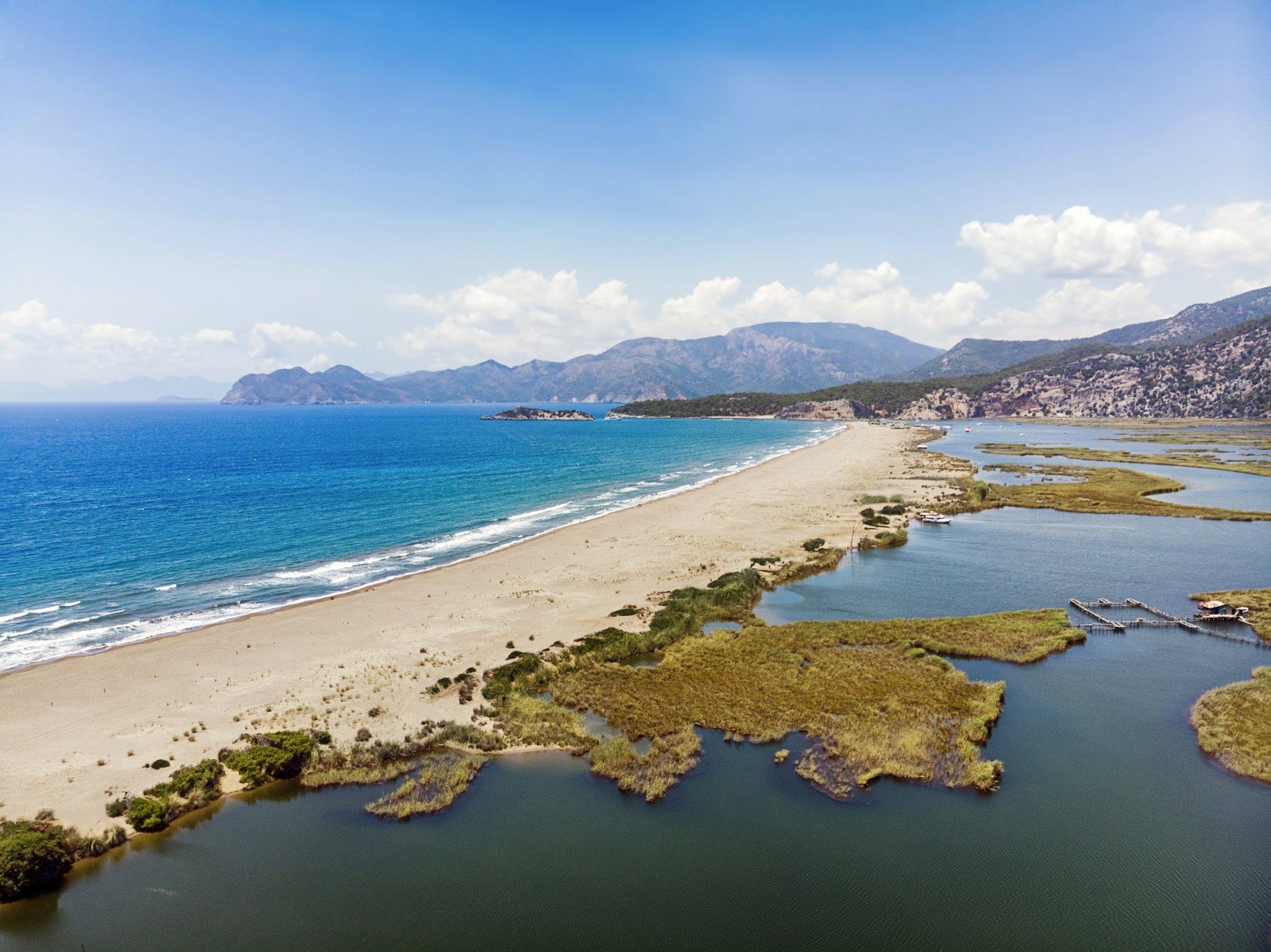 Home to Caretta carettas, many birds and fish, Dalyan's Iztuzu Beach is one of the most popular beaches in Turkey. (iStock Photo)