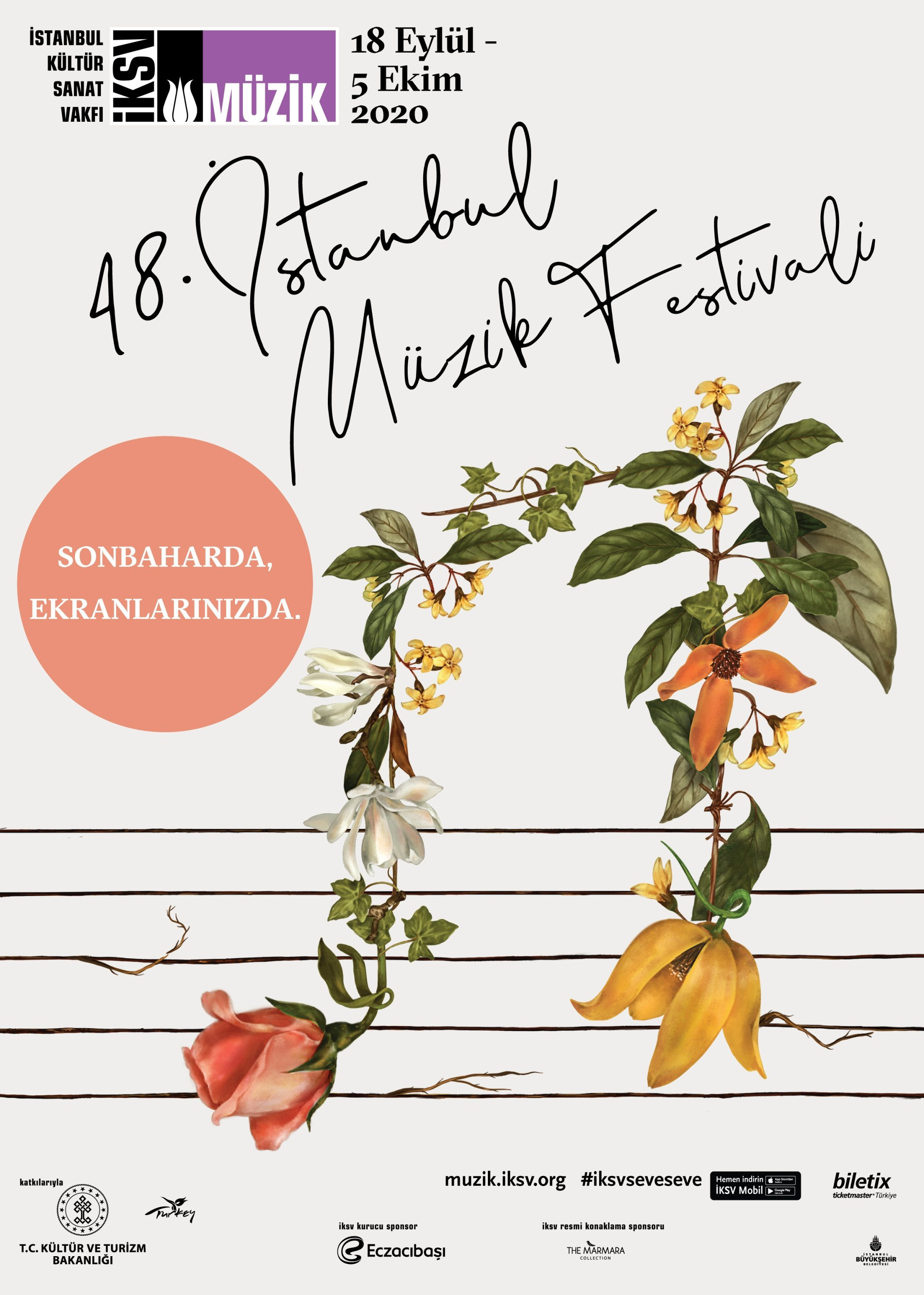 A poster of the 48th Istanbul Music Festival. (Courtesy of IKSV)
