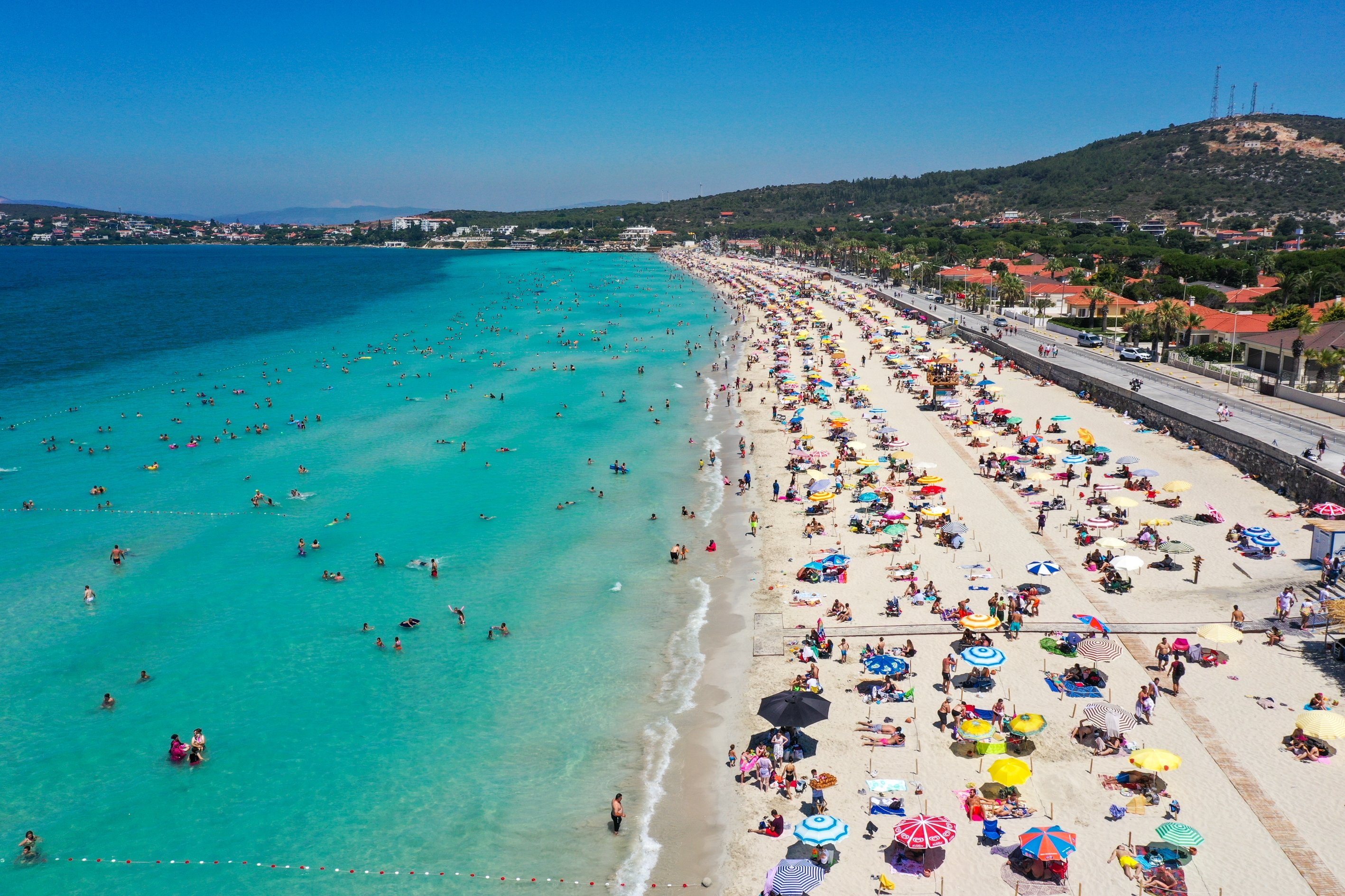 Ilıca Beach is one of Çeşme's most famous and beautiful beaches. (AA Photo)
