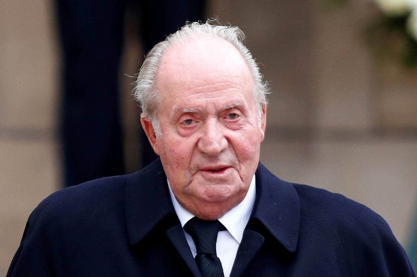 Spain's former king, Juan Carlos, leaves after attending the funeral ceremony of Luxembourg's Grand Duke Jean at the Notre-Dame Cathedral in Luxembourg, May 4, 2019. (Reuters Photo)