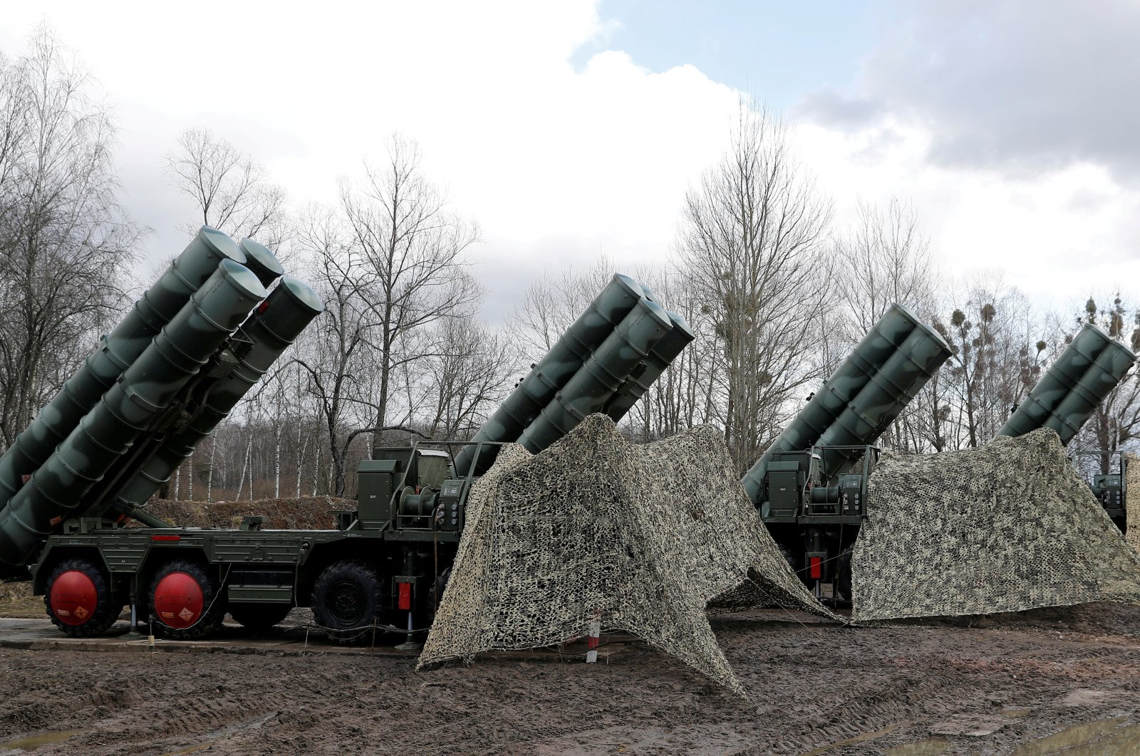 A S-400 surface-to-air missile system is seen after its deployment near Kaliningrad, Russia, March 11, 2019. (Reuters Photo)