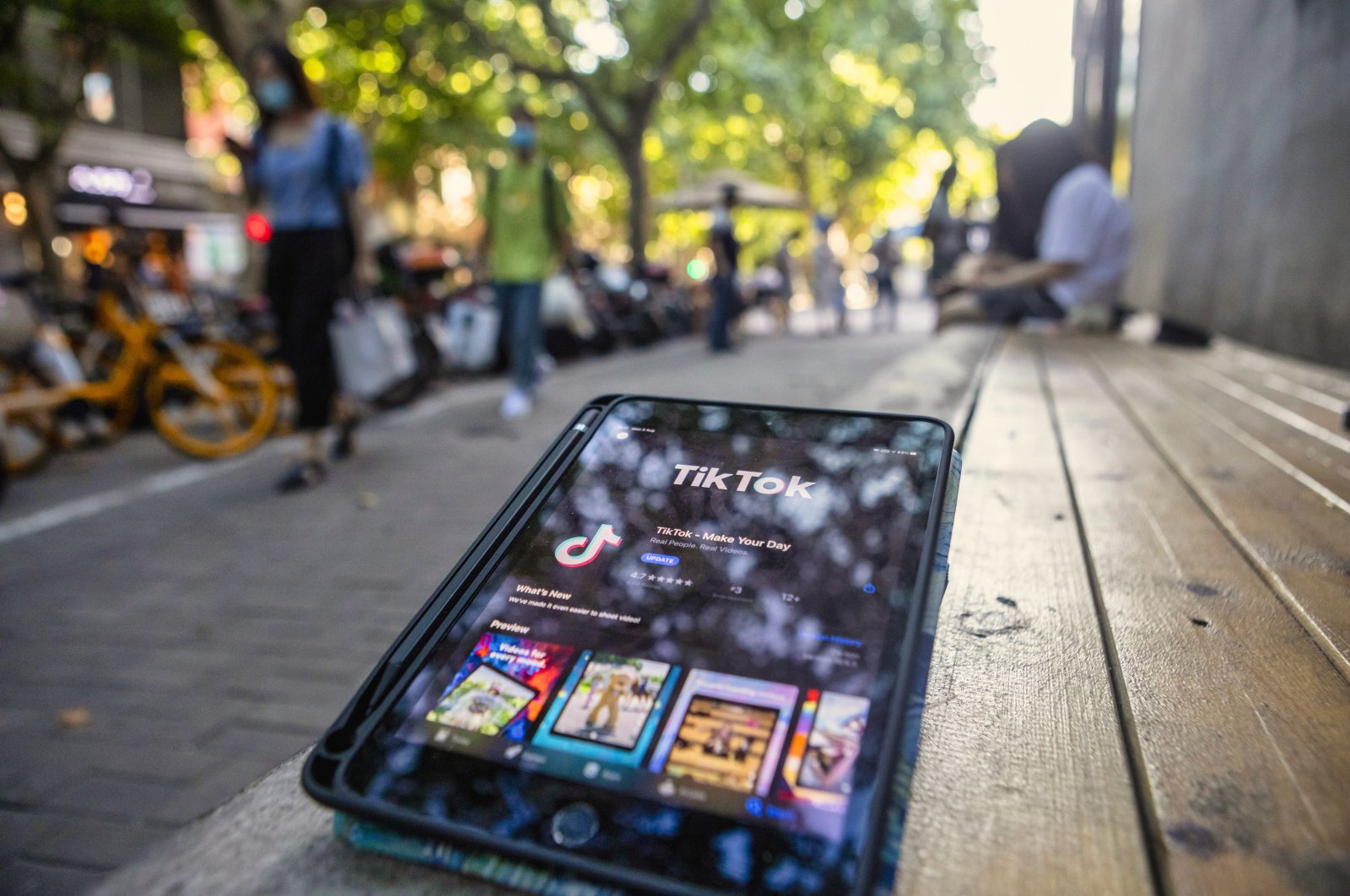 A TikTok app is seen on the tablet in Shanghai, China, 03 August 2020. (EPA Photo)