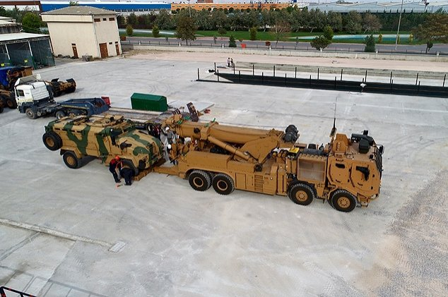 Tests on domestic M4K Partially Mine-Protected Recovery Vehicles were completed in January 2020. (AA Photo)