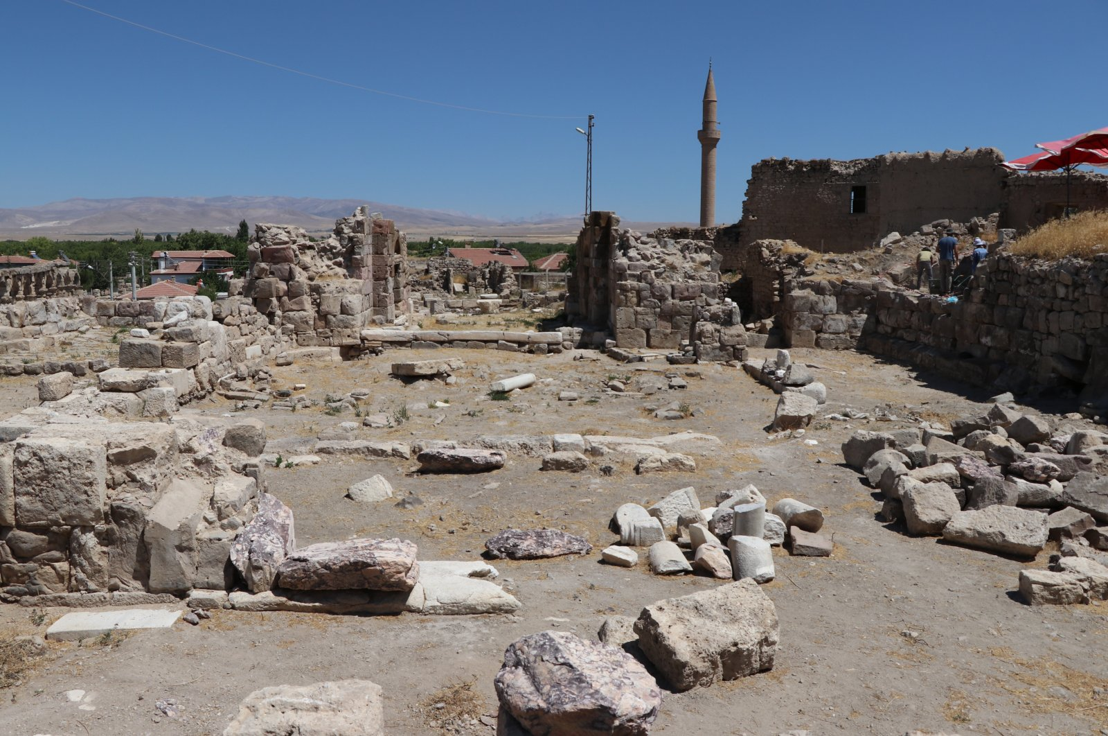 A photo from the excavation area in the ancient city of Tyana, Niğde province, central Turkey, Aug. 9, 2020. (AA Photo)