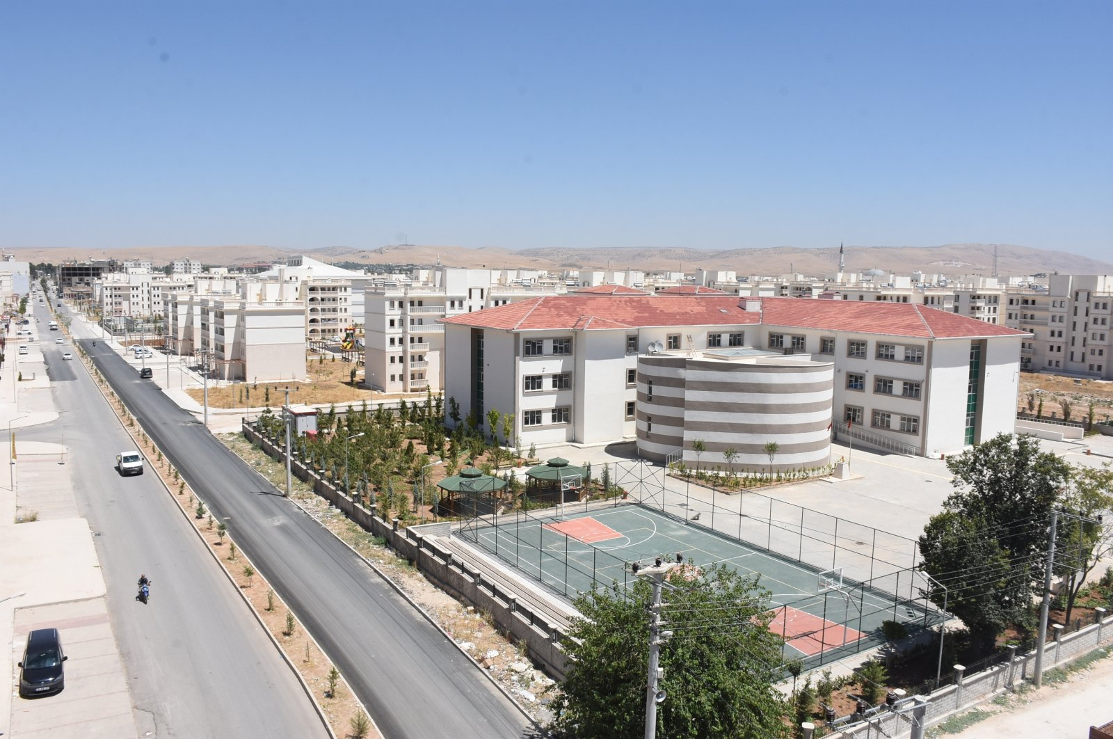 Last year, three new schools were constructed in the Nusaybin to replace the old ones, and the number has risen to eight in 2020 with the addition of five new schools, Aug. 10, 2020. (AA Photo)