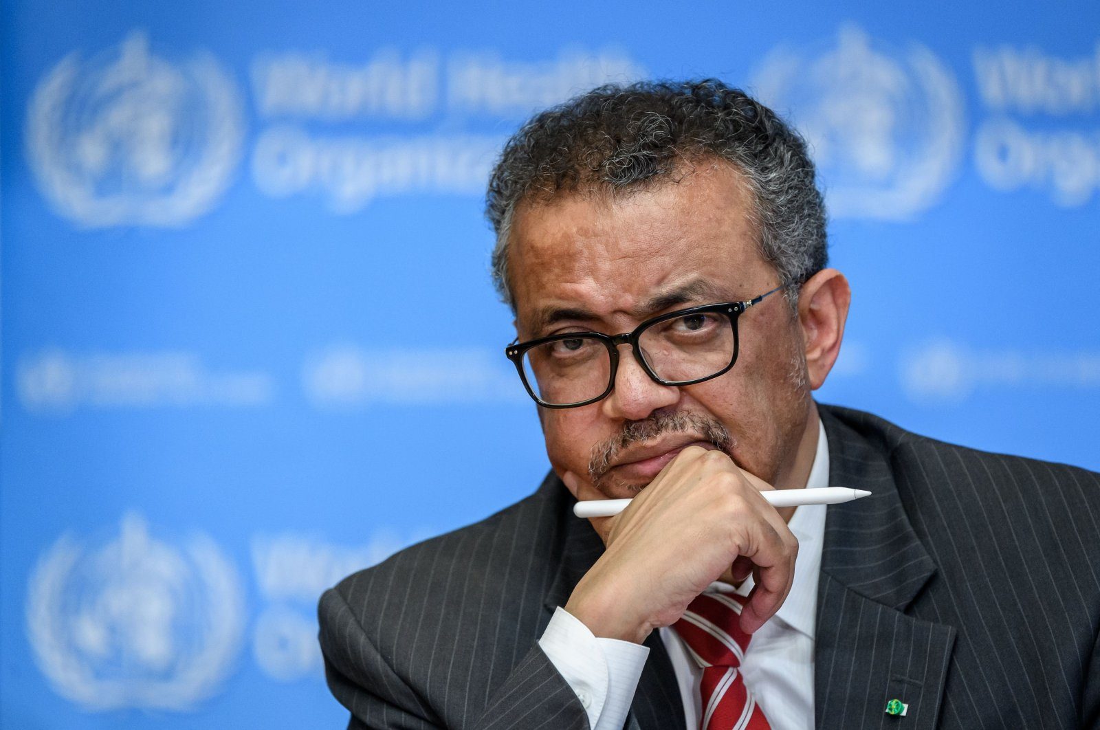 World Health Organization (WHO) Director-General Tedros Adhanom Ghebreyesus attends a daily press briefing on COVID-19, the disease caused by the coronavirus, at the WHO headquarters in Geneva, Switzerland, March 11, 2020. (AFP Photo)