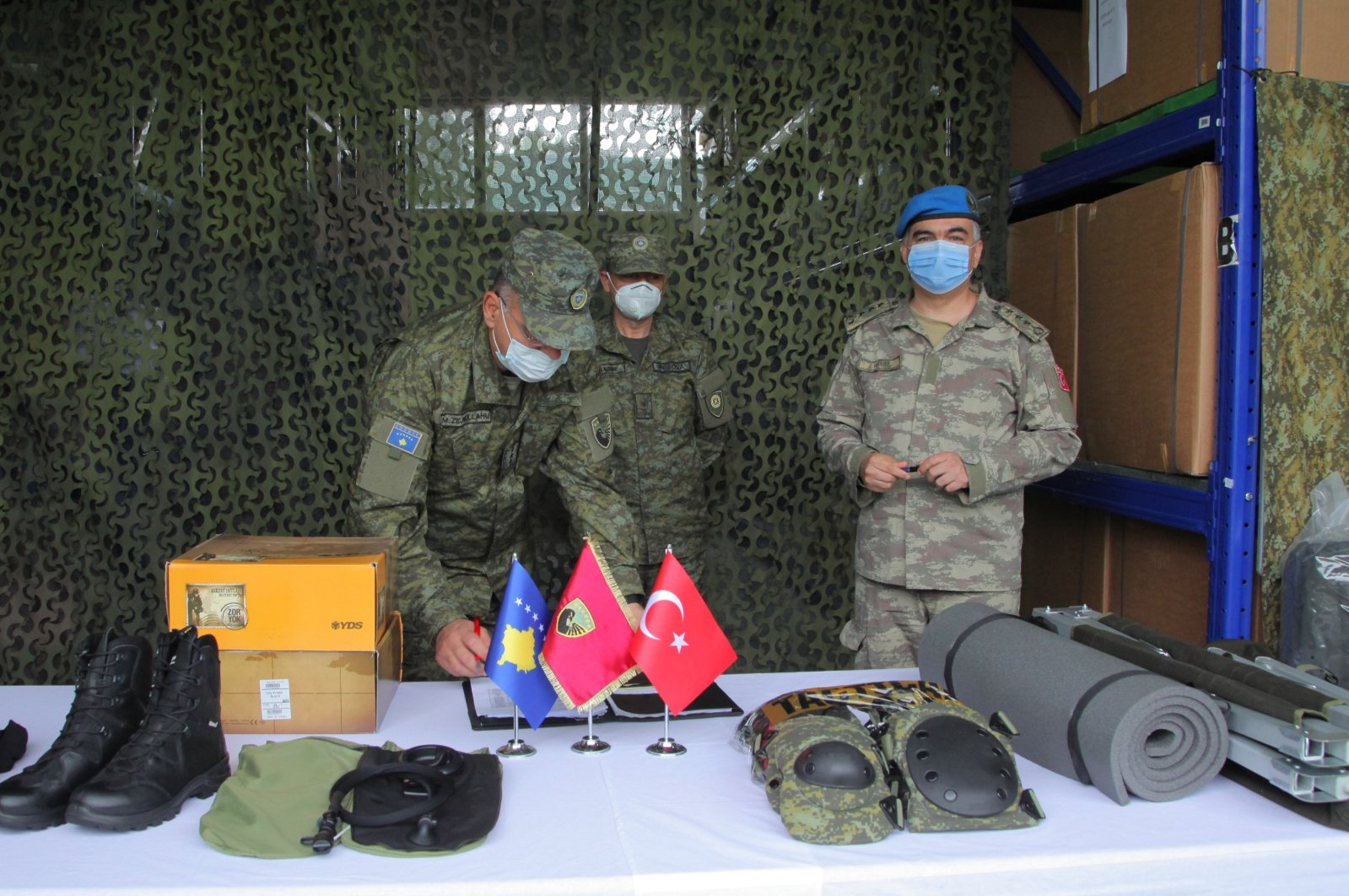 Turkey provides the Kosovo Security Force with $743,000 (TL 5.4 million) worth of donations, Aug. 10, 2020. (AA)