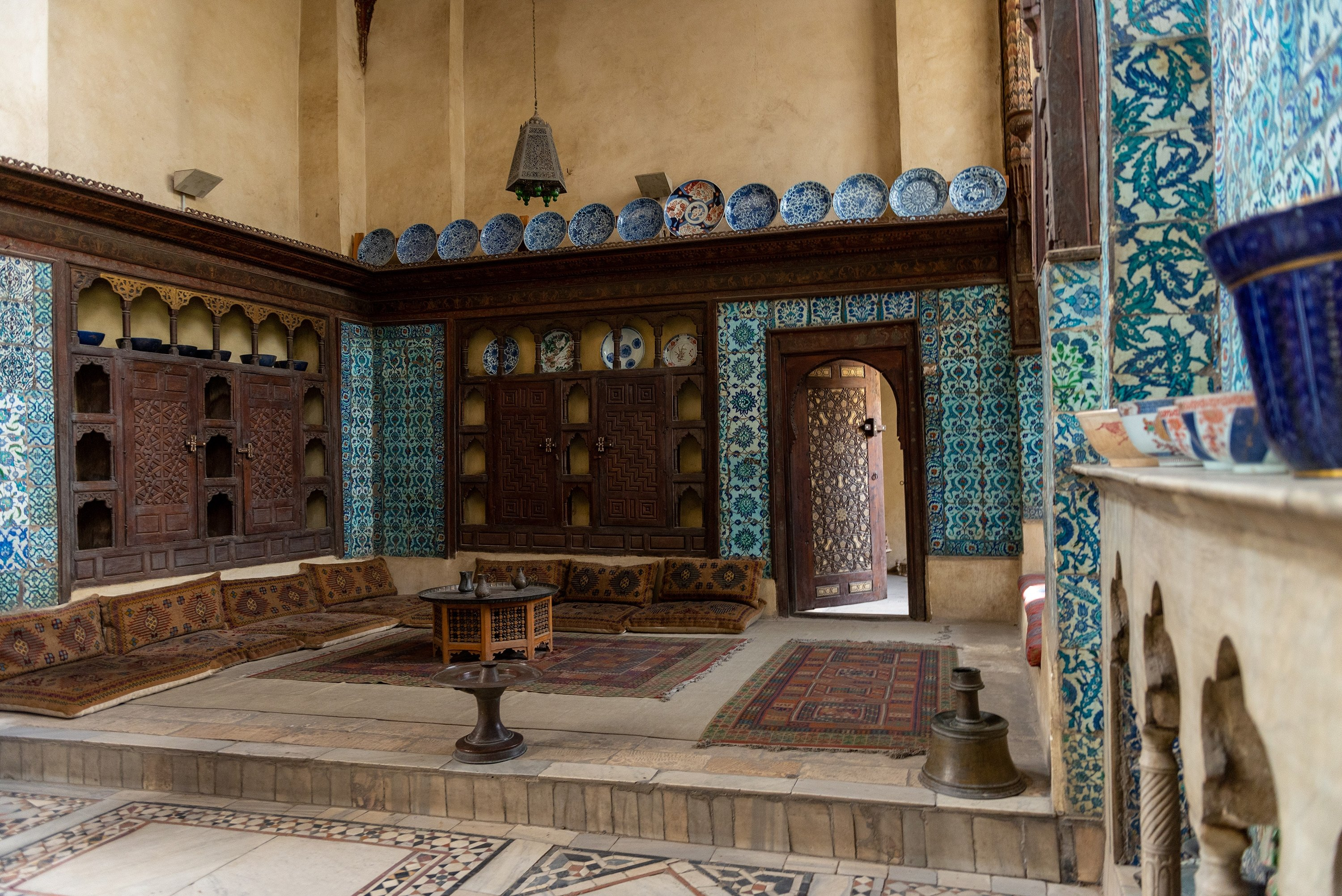 Interior room in the Bayt Al-Suhaymi, an Ottoman era house museum in Cairo, Egypt. (Shutterstcok Photo)