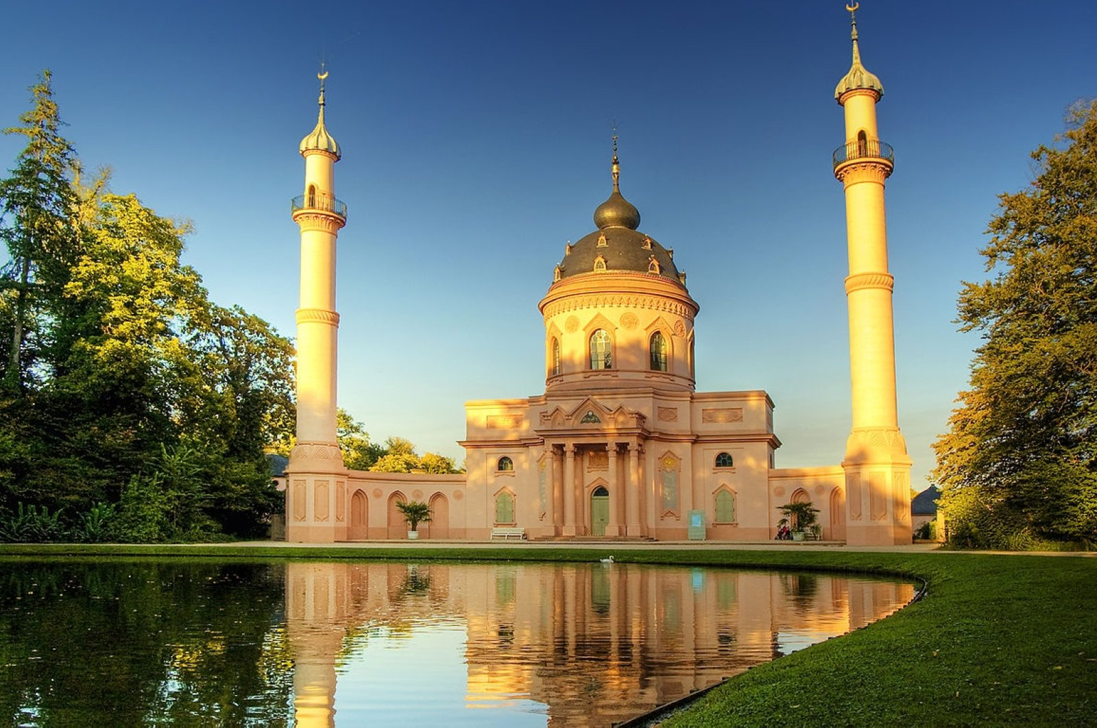 The construction of the Schwetzingen Mosque was completed in 1795.