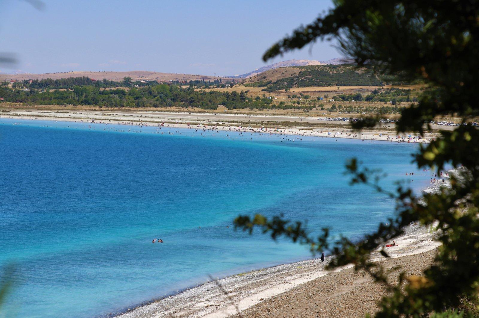 A view of Lake Salda, in Burdur, southwestern Turkey, Aug. 10, 2020. (AA Photo)