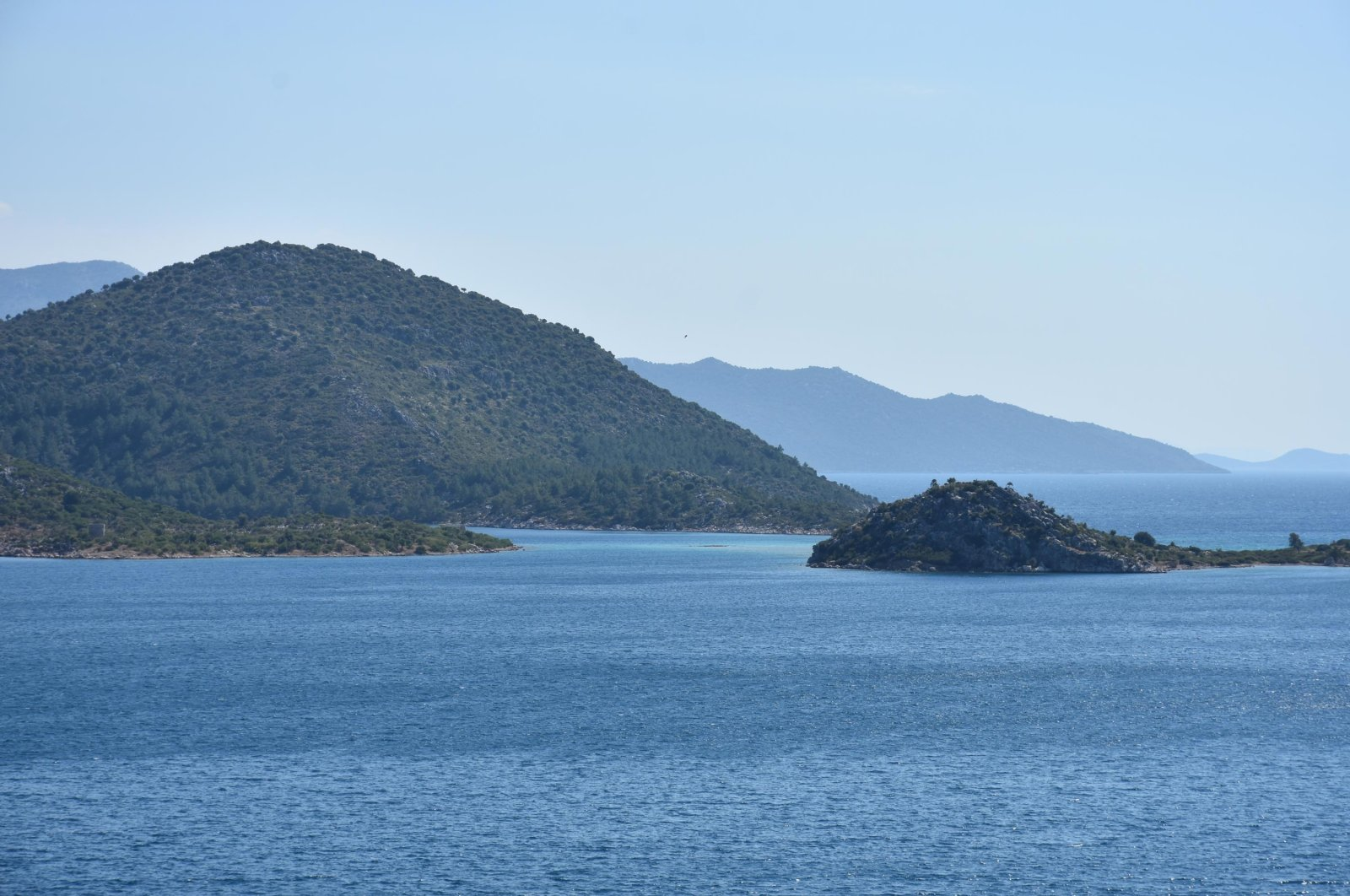 The Aegean Sea off Turkey's southwestern Muğla province, Aug. 11, 2020. (DHA Photo)