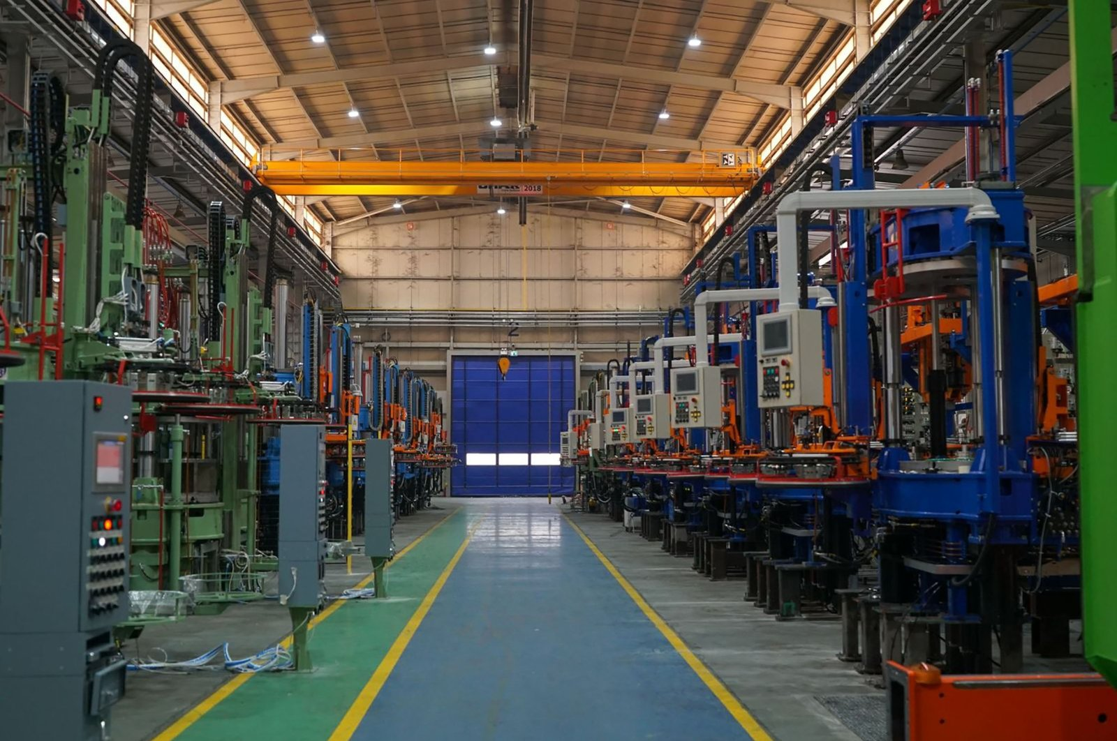 A mold press machinery factory in the Arslanbey Organized Industrial Zone in Kocaeli, northwestern Turkey, June 26, 2020. (Sabah Photo)