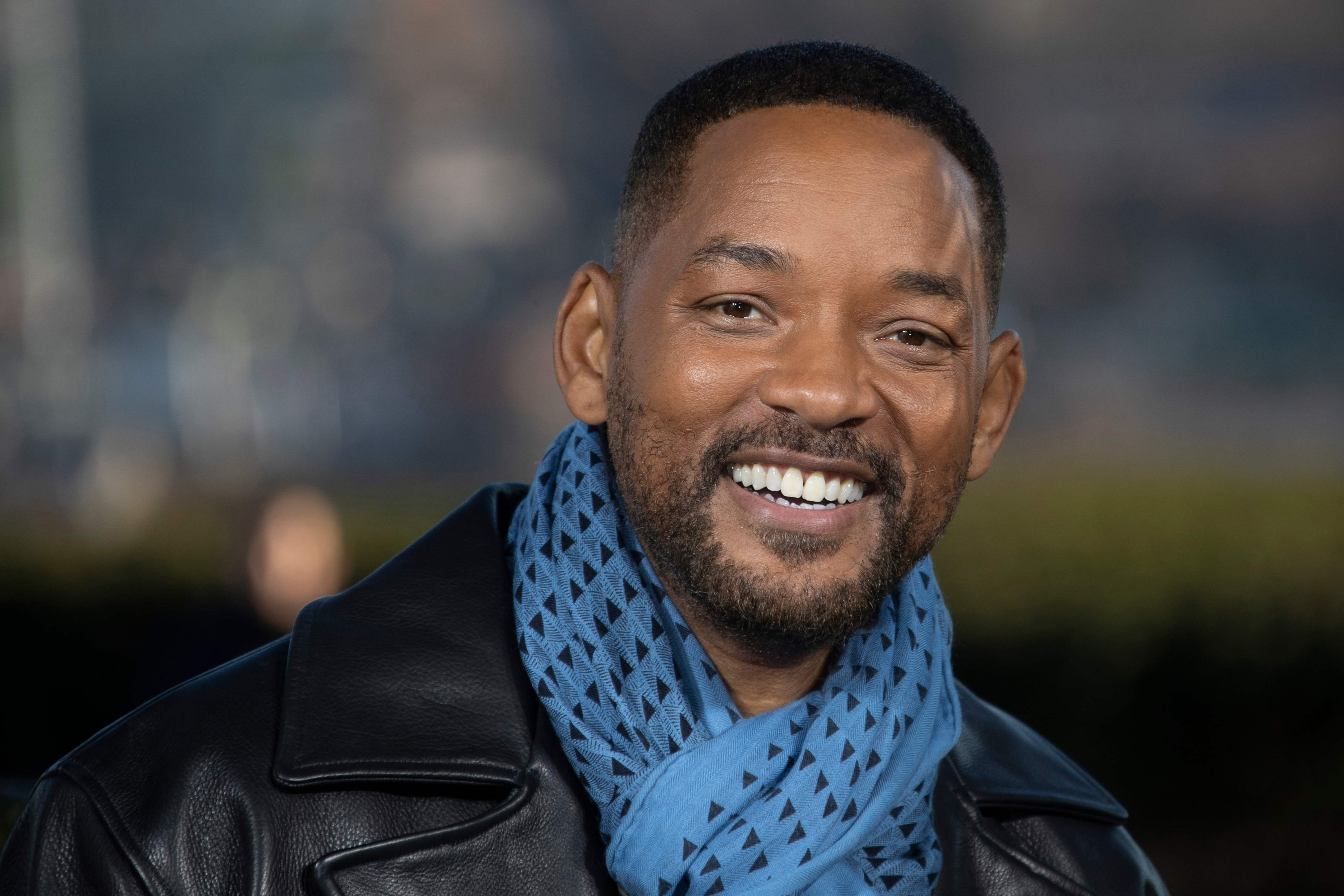 U.S. actor Will Smith poses at the 'Bad Boys For Life' launching photocall in front of the Eiffel Tower in Paris, Jan. 6, 2020.  (AFP PHOTO)