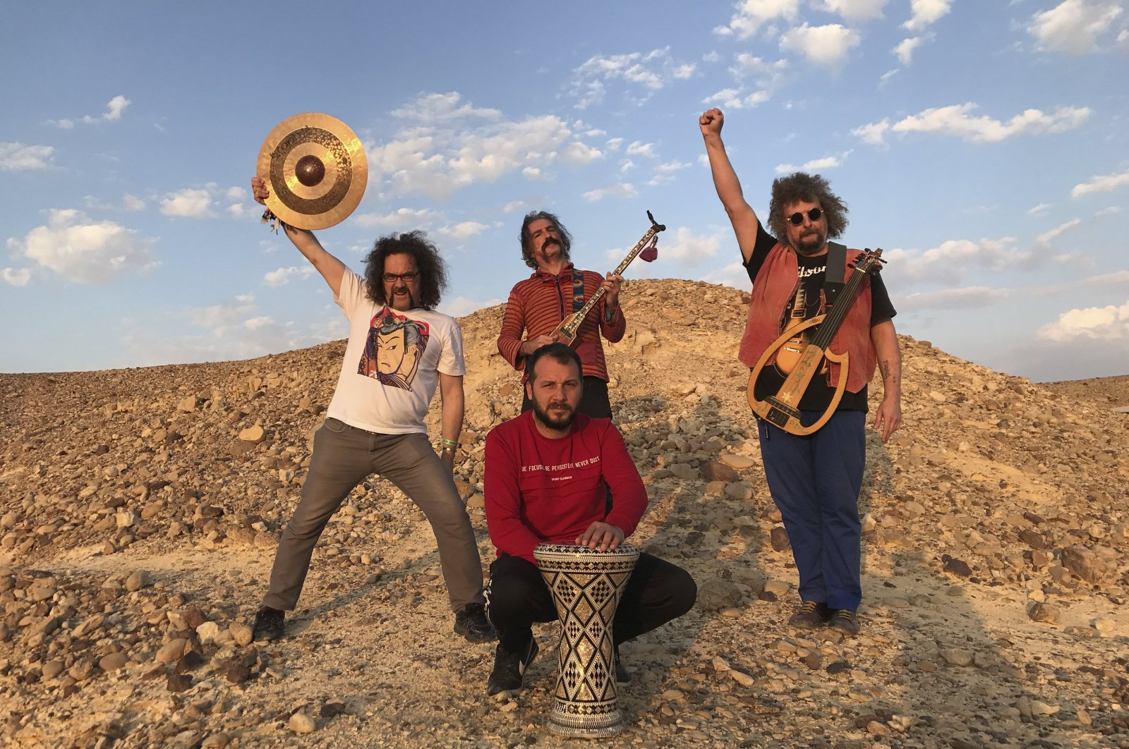 BaBa Zula combines Turkish culture with their music, posture and costumes on the stage on Sept. 7. (Courtesy of IKSV)