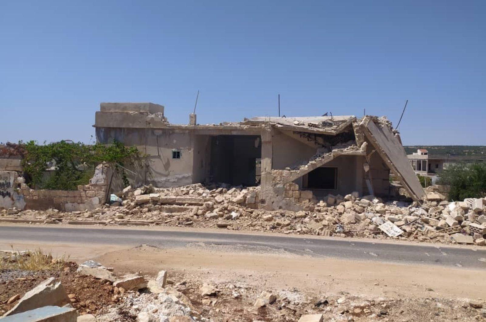 Seven civilians killed in a Syrian regime attack in Idlib, Aug.10, 2020. (IHA)