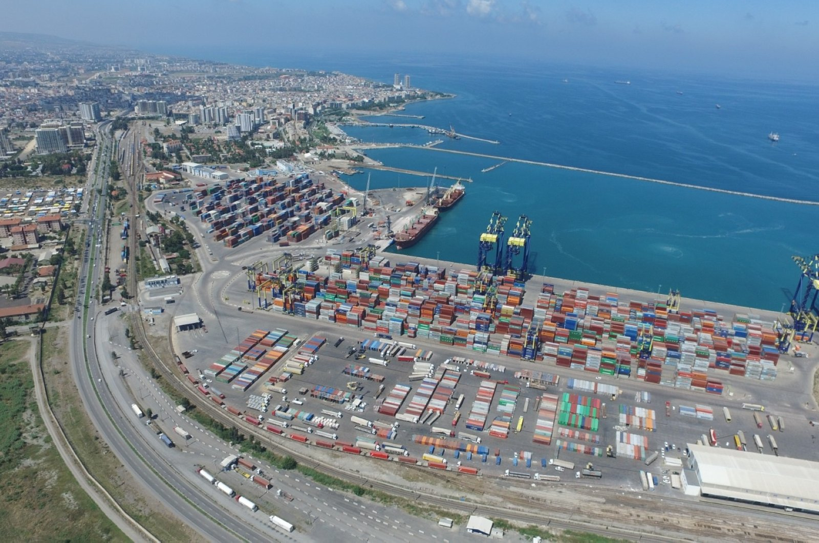 A general view of LimakPort Iskenderun International Port in southern Hatay province, Turkey, Aug. 12, 2020. (AA Photo)