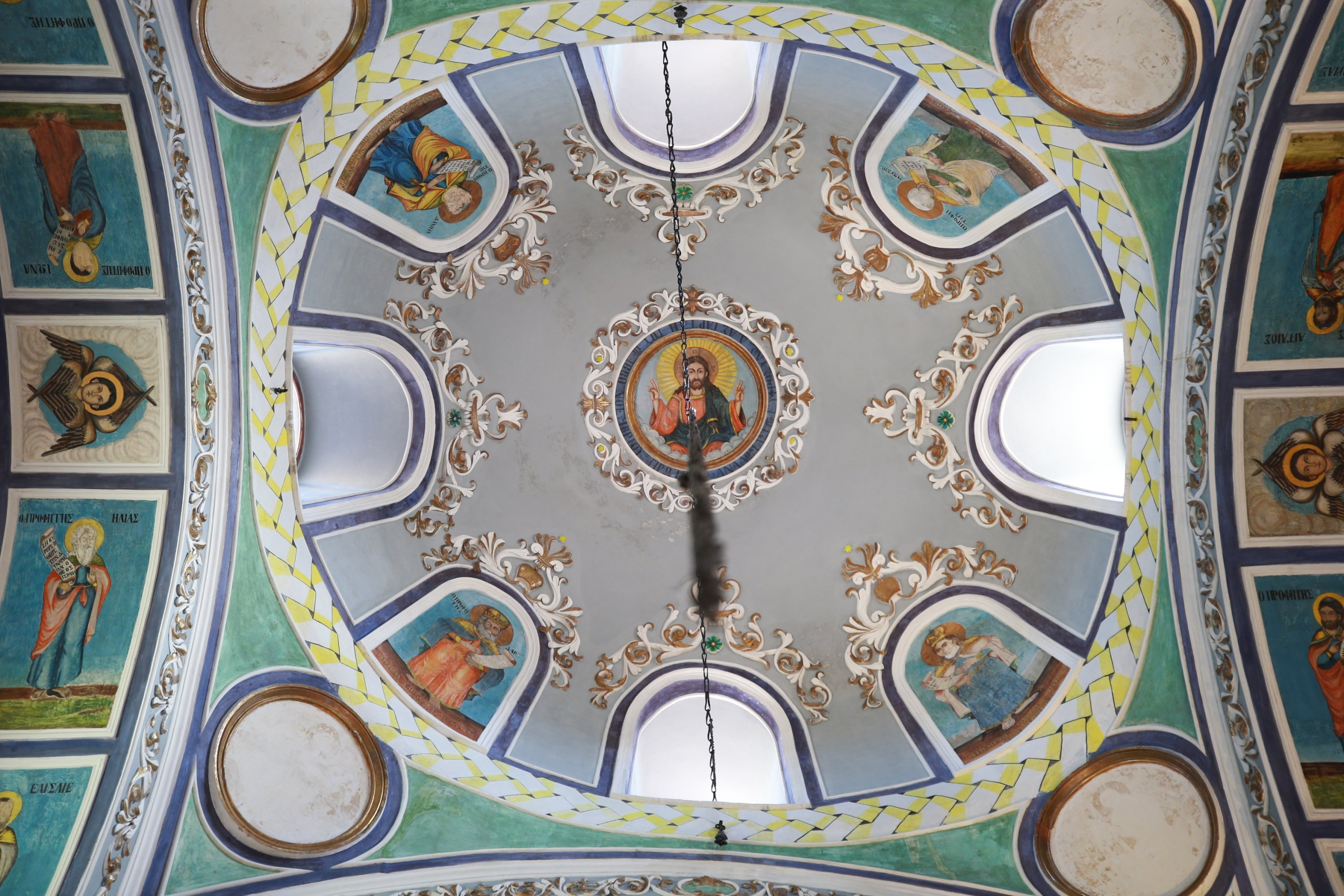 A view from the dome at the Greek Orthodox church of Agia Eleni in Sille village, Konya, central Turkey, Aug. 12, 2020. (AA PHOTO)