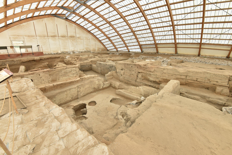 Çatalhöyük settlement in Konya, central Turkey, Aug. 12, 2020. (AA PHOTO)