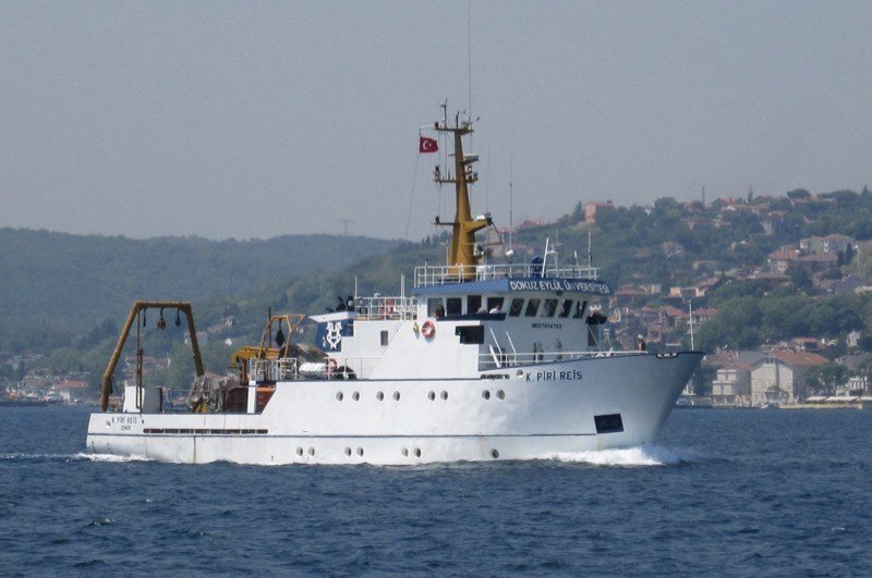 Seismic research vessel Koca Piri Reis is seen near Urla Port in the western province of Izmir, Turkey, May 21, 2012. (IHA Photo)