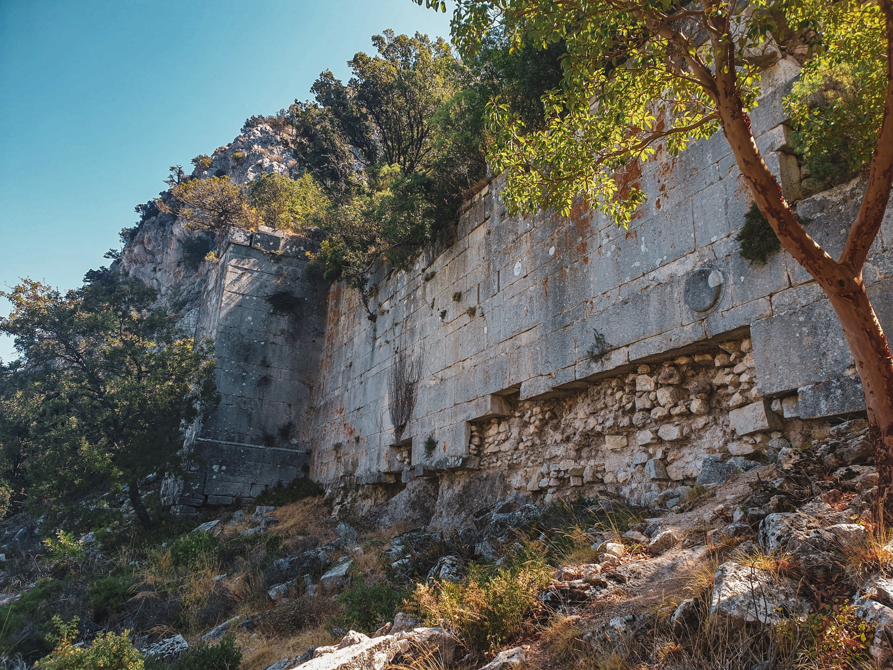 The walls of the lower city once protected Termessos from enemies. (Photo by Argun Konuk)