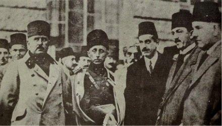 (L to R) Kazım Karabekir, Refet Bele, Adnan Adıvar, Rauf Orbay, and Ali Fuat Cebesoy.