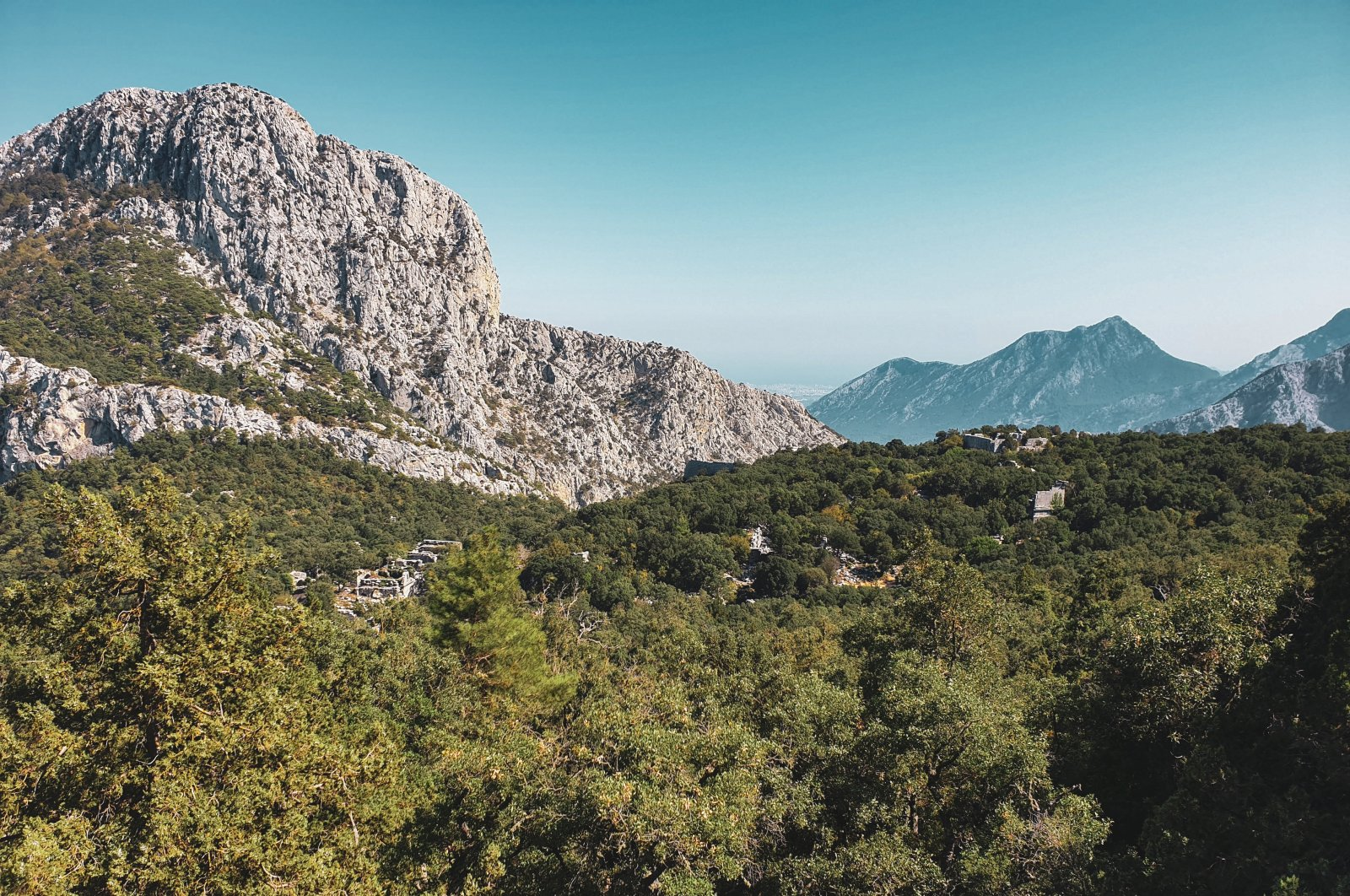 Though mostly in ruins, the ancient city of Termessos is still spectacular and now surrounded by a sea of green. (Photo by Argun Konuk)