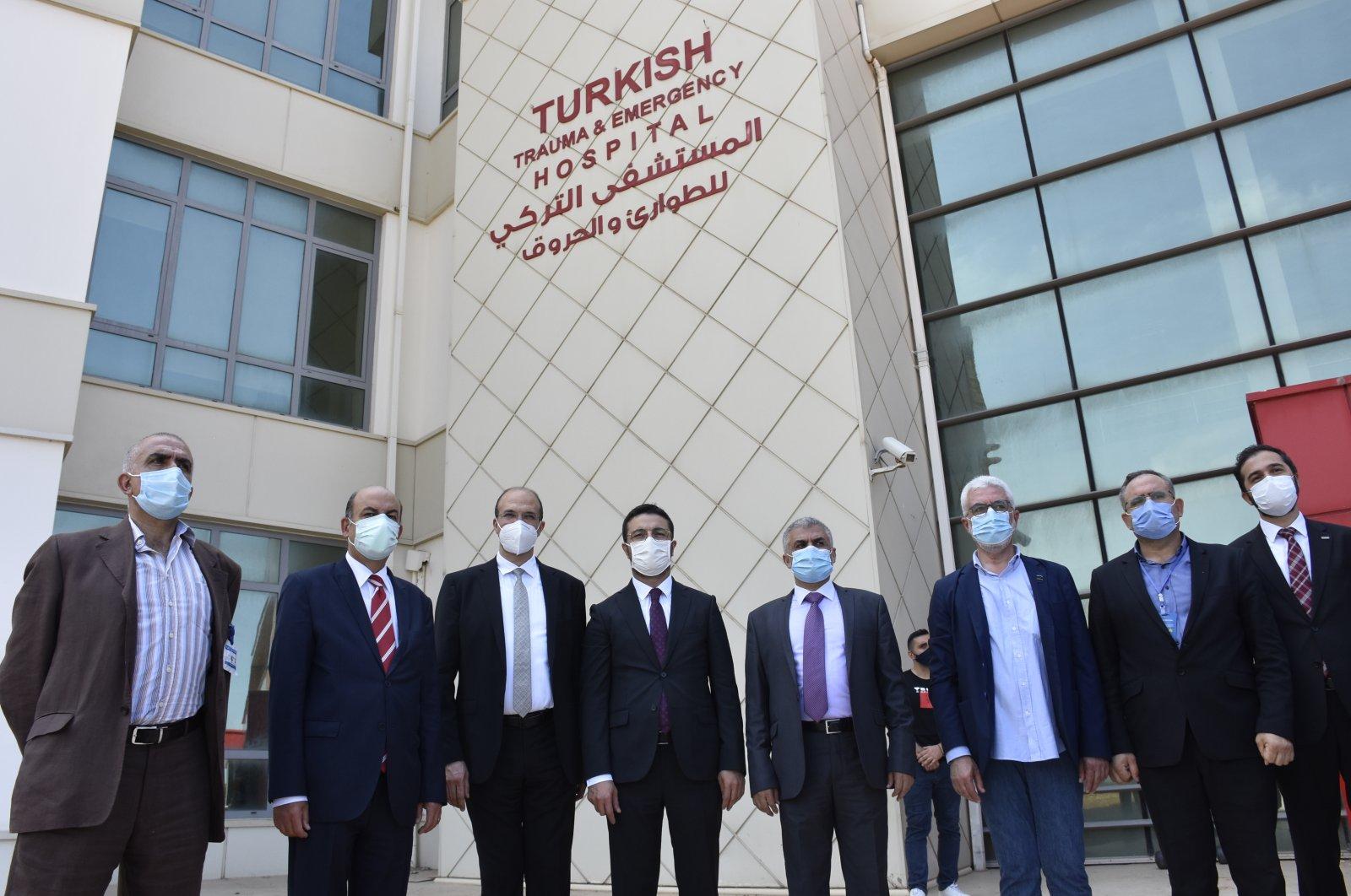 Turkish and Lebanese officials visit the Saida Turkish Hospital in Lebanon, Aug. 13, 2020. (AA Photo)