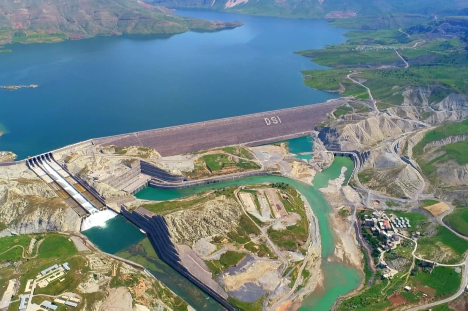 Turkey's Ilısu Dam on the Tigris in southern Mardin province, May 18, 2020. (DHA Photo)