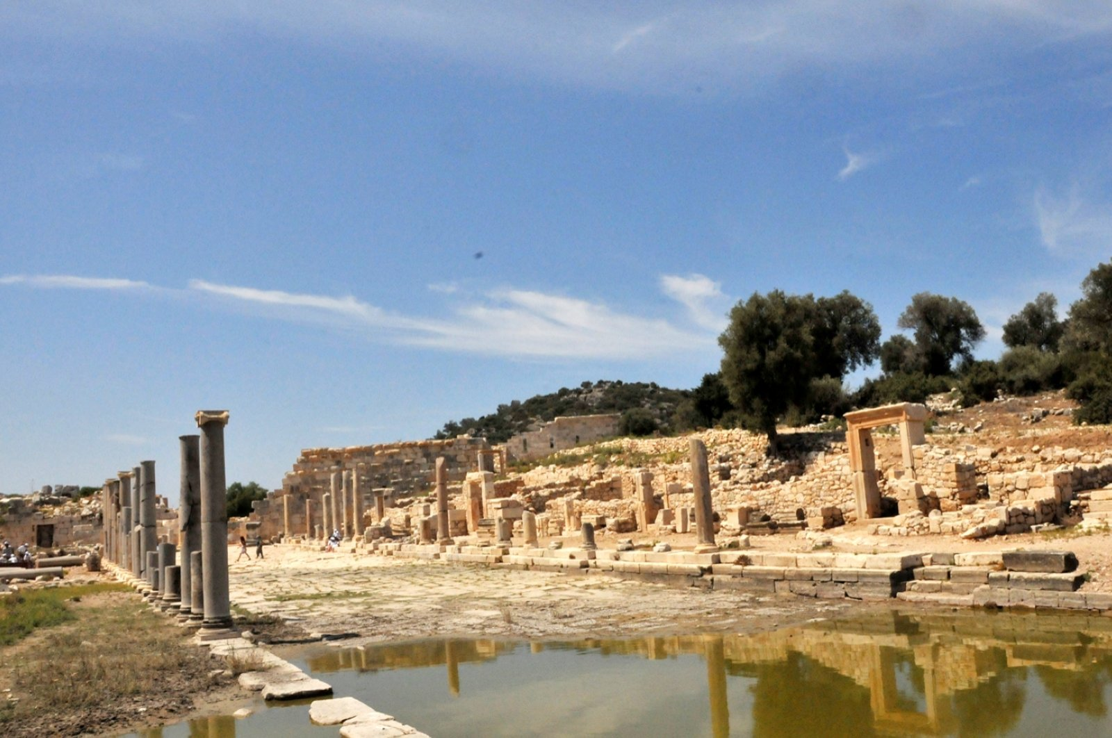 A photo from the ancient city of Patara, Antalya, southern Turkey, Aug. 13, 2020. (DHA PHOTO)
