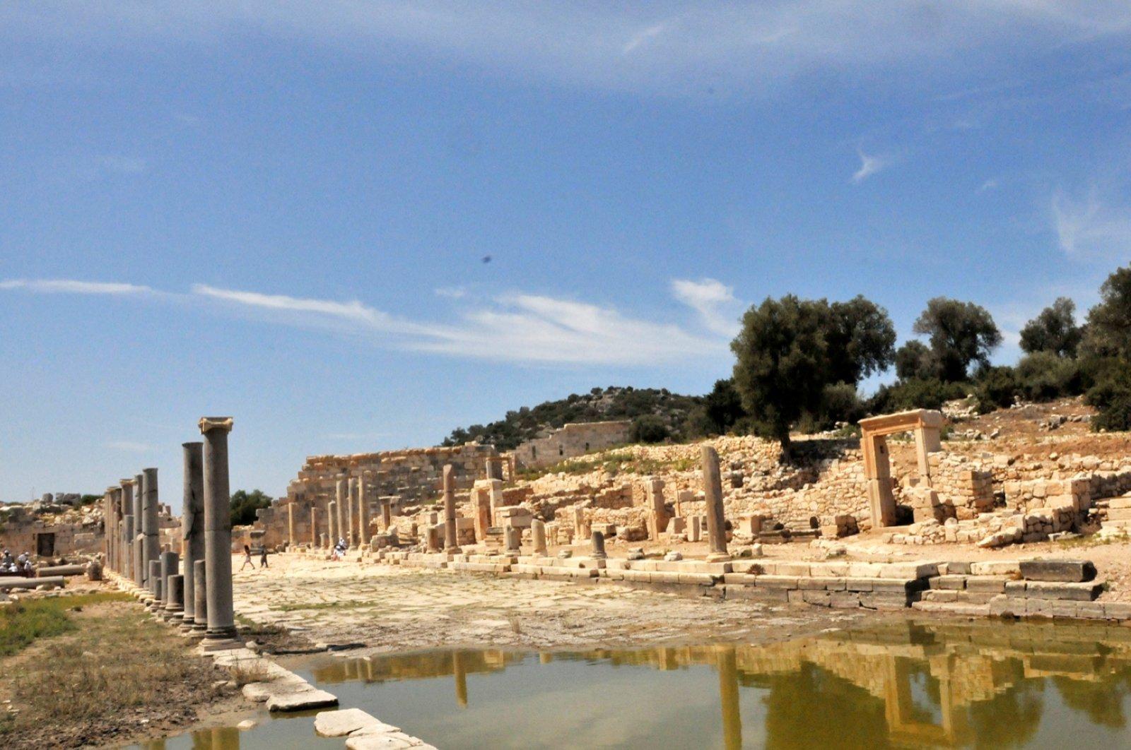 A photo from the ancient city of Patara, Antalya, southern Turkey, Aug. 13, 2020. (DHA PHOTO)