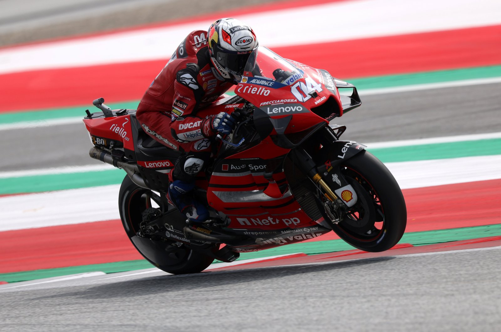 Andrea Dovizioso rides during qualifying, in Spielberg, Austria, Aug. 15, 2020. (REUTERS Photo)