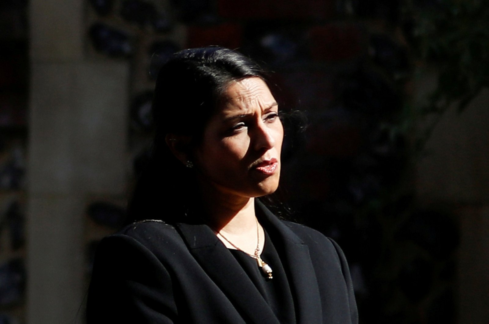 Britain's home secretary Priti Patel speaks to the media in Reading, Britain, June 22, 2020. (Reuters Photo)