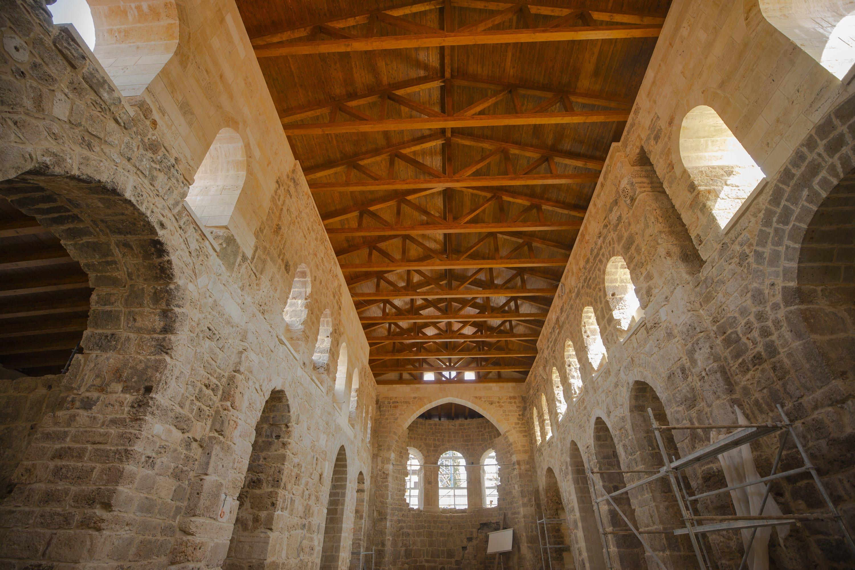 A photo from the interior of the Şehzade Korkut Mosque, Antalya, southern Turkey, Aug. 14, 2020. (AA Photo)