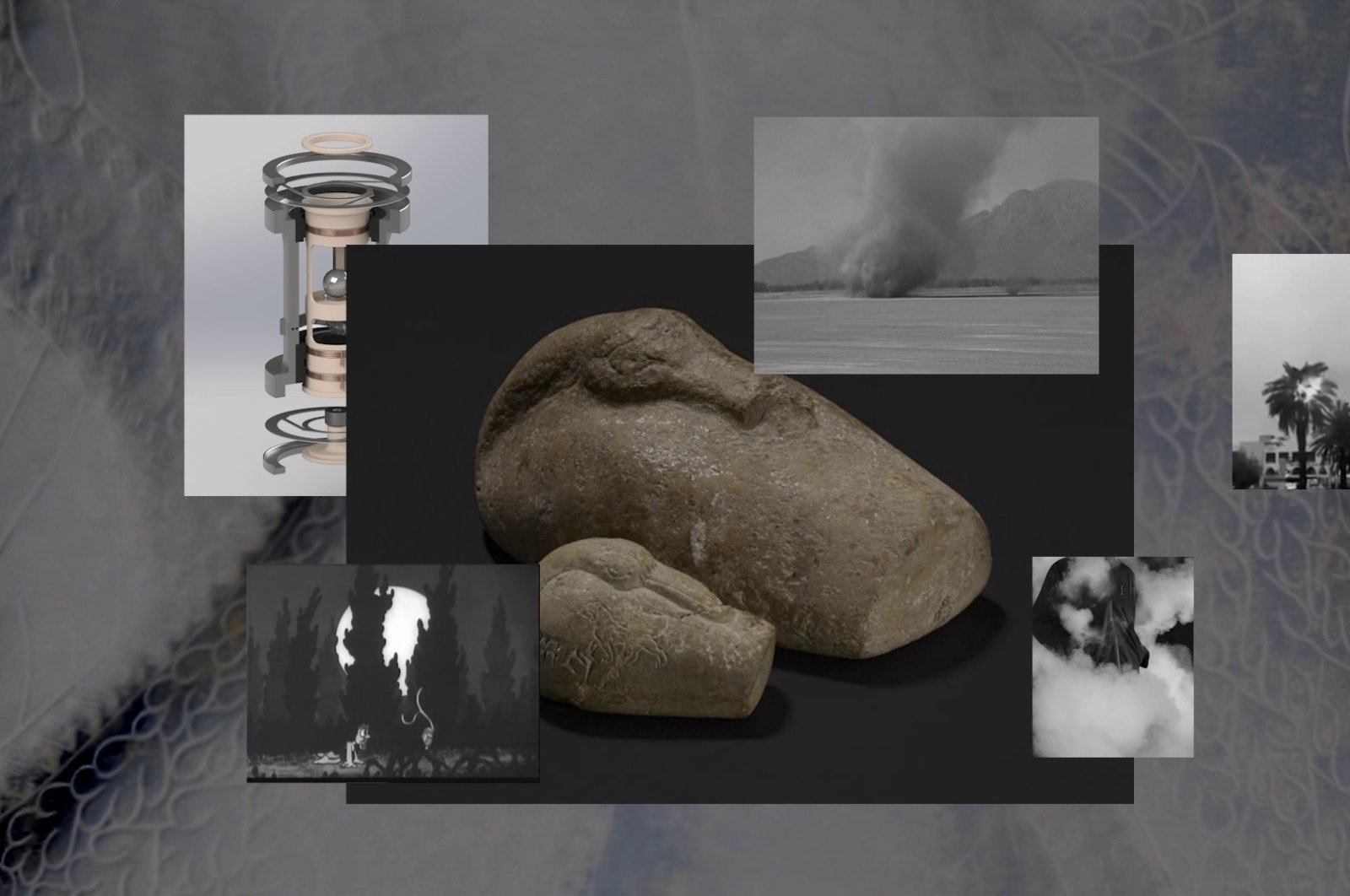 """Still shot from """"For All the Time, for All the Sad Stones"""" (2019) by Nicola Lorini. (Courtesy of Pera Museum)"""