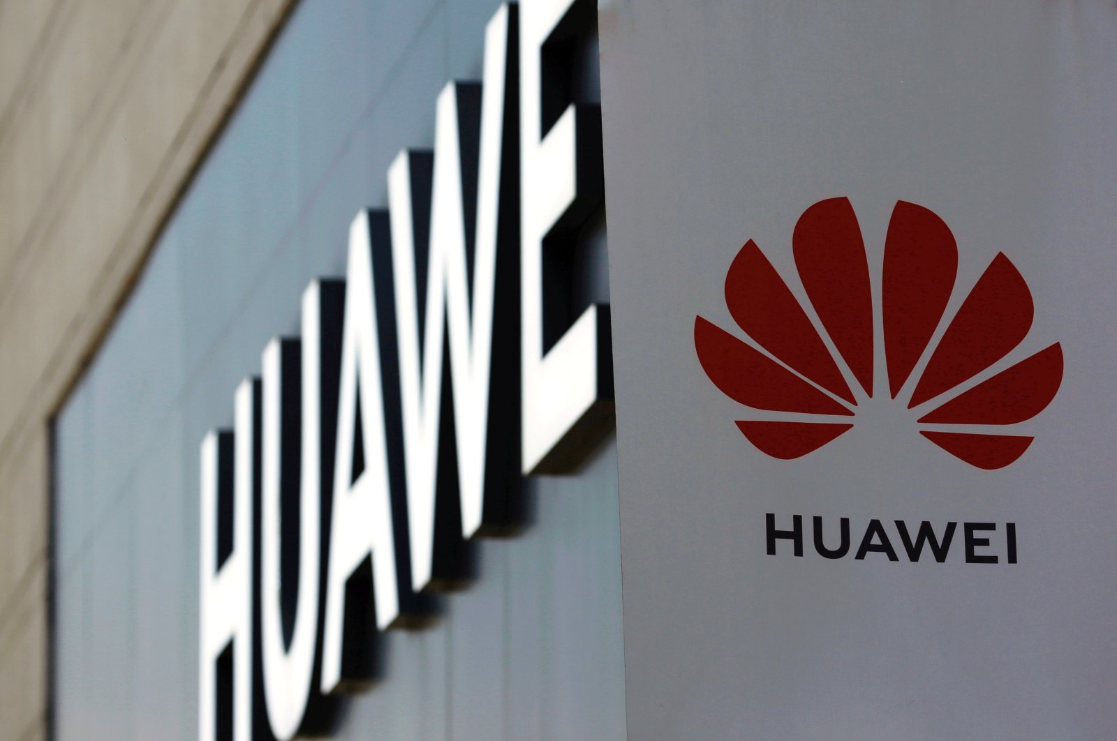 A Huawei sign is seen outside its store at a shopping complex in Beijing, China, July 14, 2020. (REUTERS Photo)