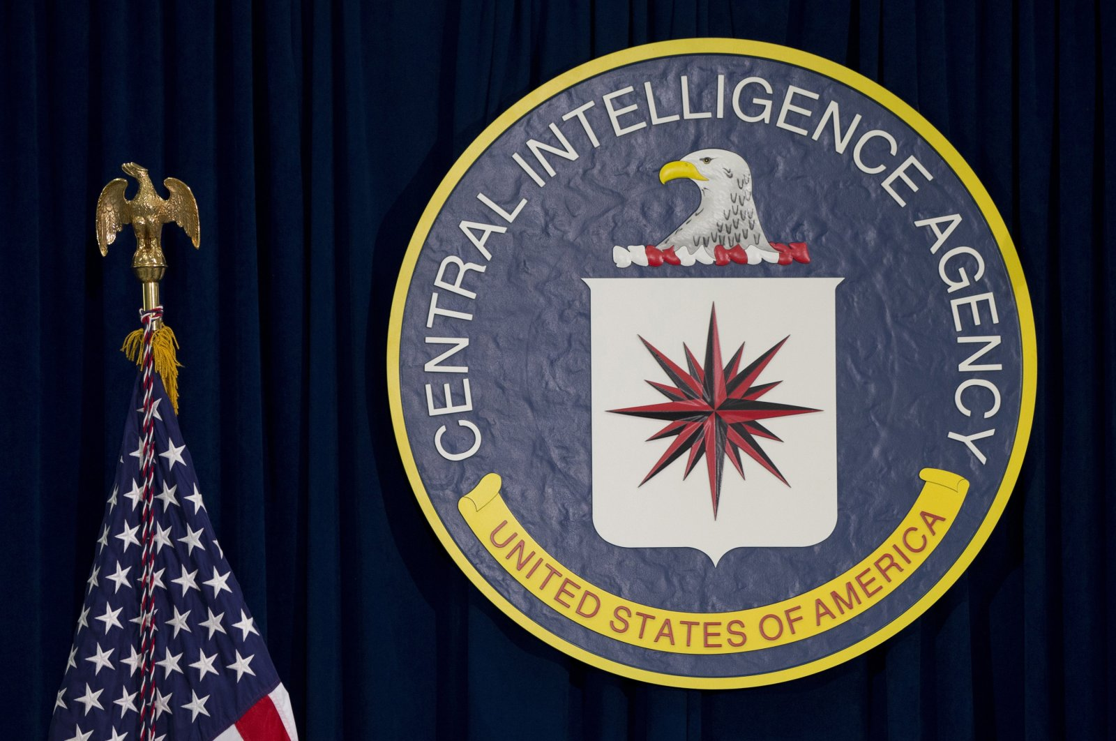 The seal of the Central Intelligence Agency at CIA headquarters, Langley, Virginia, U.S., April 13, 2016. (AP Photo)
