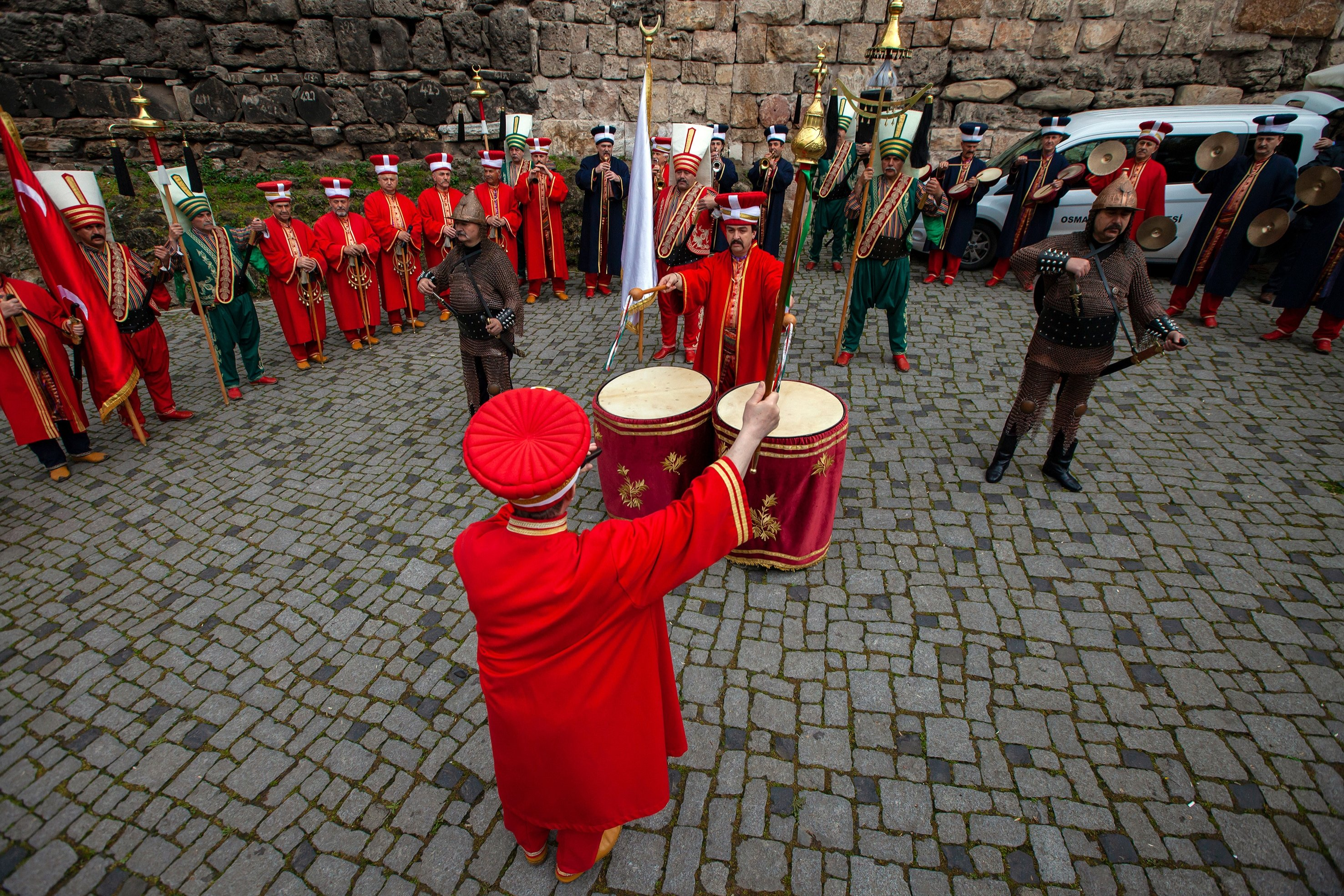 The sound of drums in Mehter music creates a dynamic rhythm that frightened enemies during wartimes. (Shutterstock Photo)