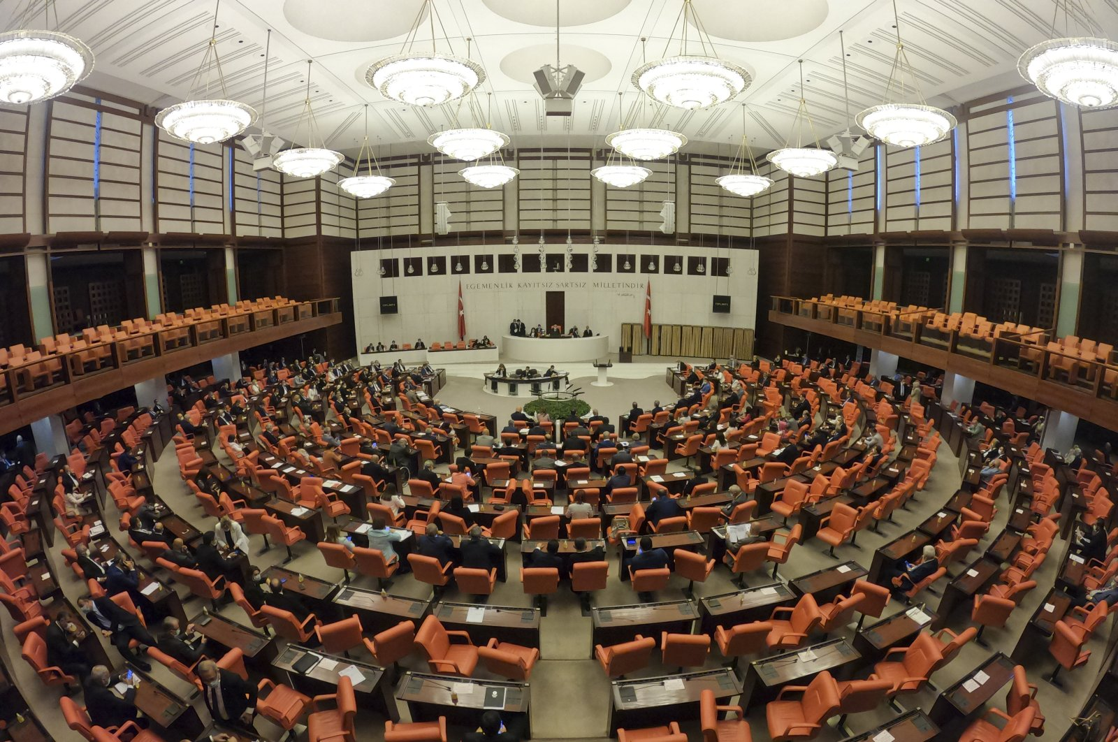 A general view of the Turkish Grand National Assembly (TBMM), Aug. 10, 2020 (AA Photo)
