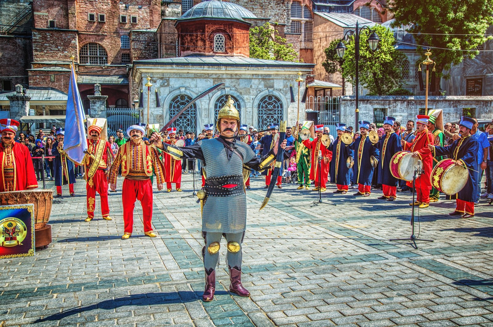 A performance of a Mehter band at Sultanahmet Square, Istanbul, Turkey, May 5, 2017. (Lepneva Irina / Shutterstock Photo)