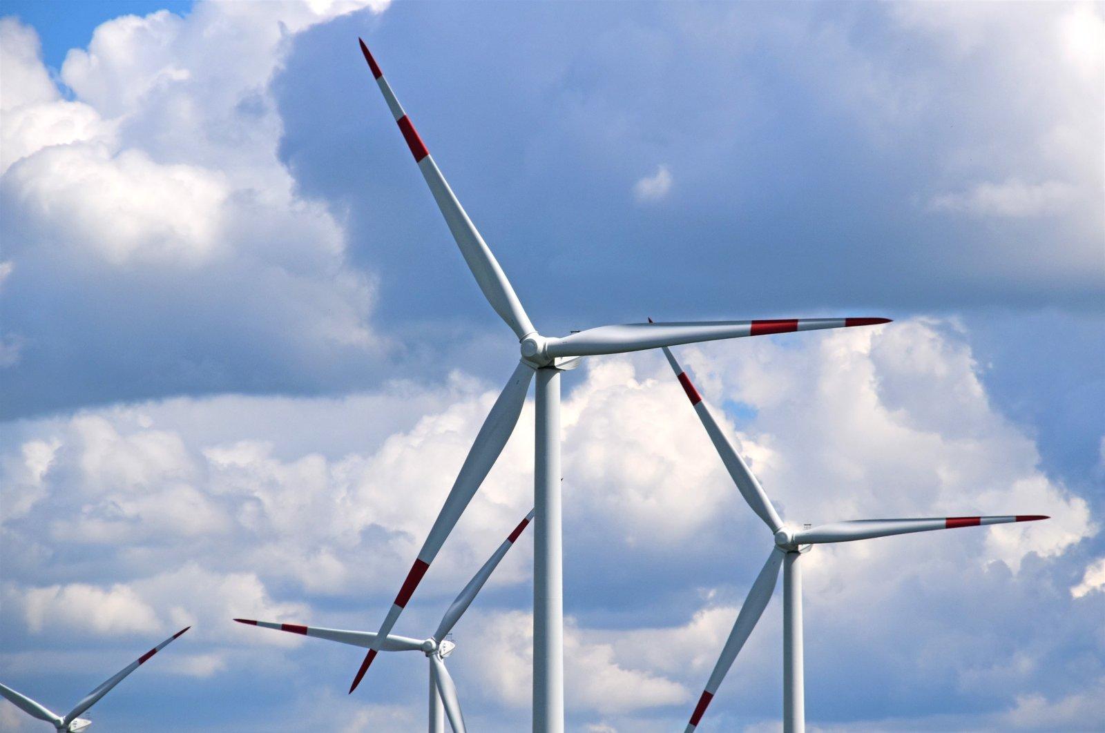 Wind turbines in western Turkey's İzmir, Aug. 17, 2020. (IHA Photo)