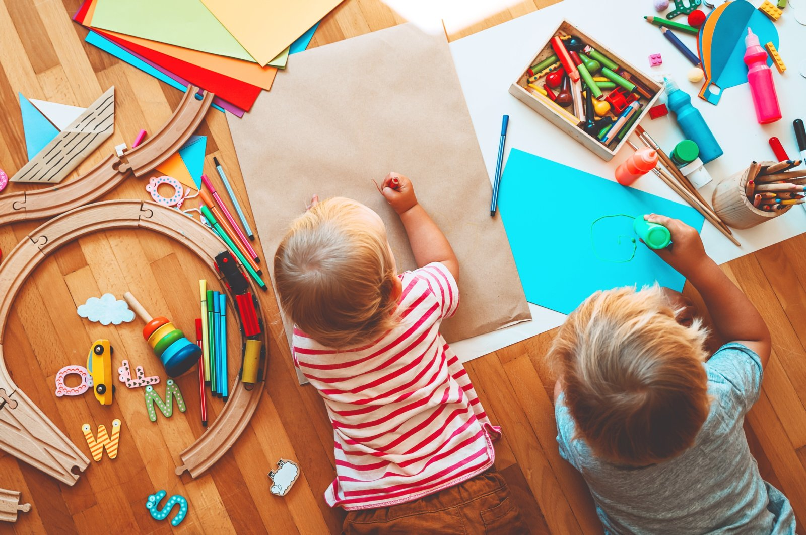 Children will design a poster expressing a slogan of their thoughts on freedom at the workshop. (iStock Photo)