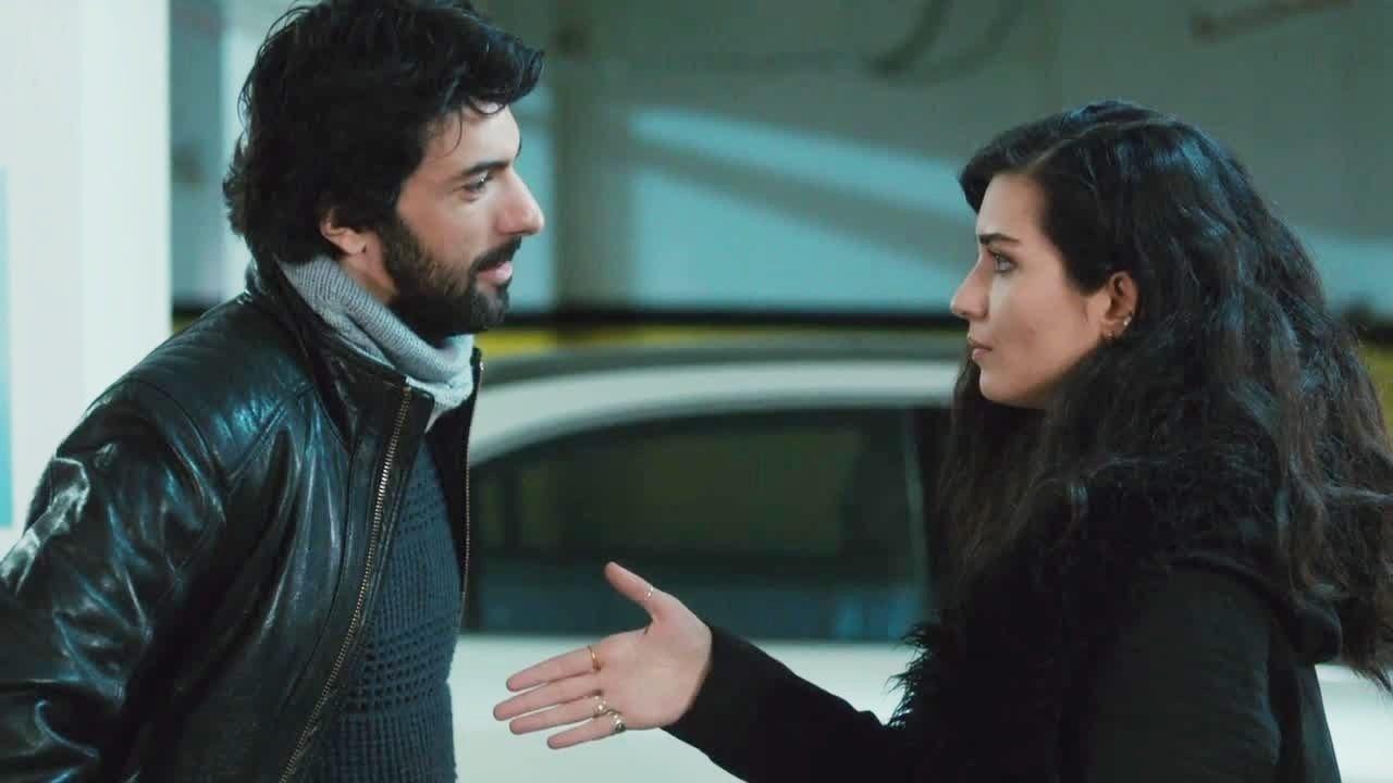 Still shot showing Engin Akyürek (L) and Tuba Büyüküstün in the series.